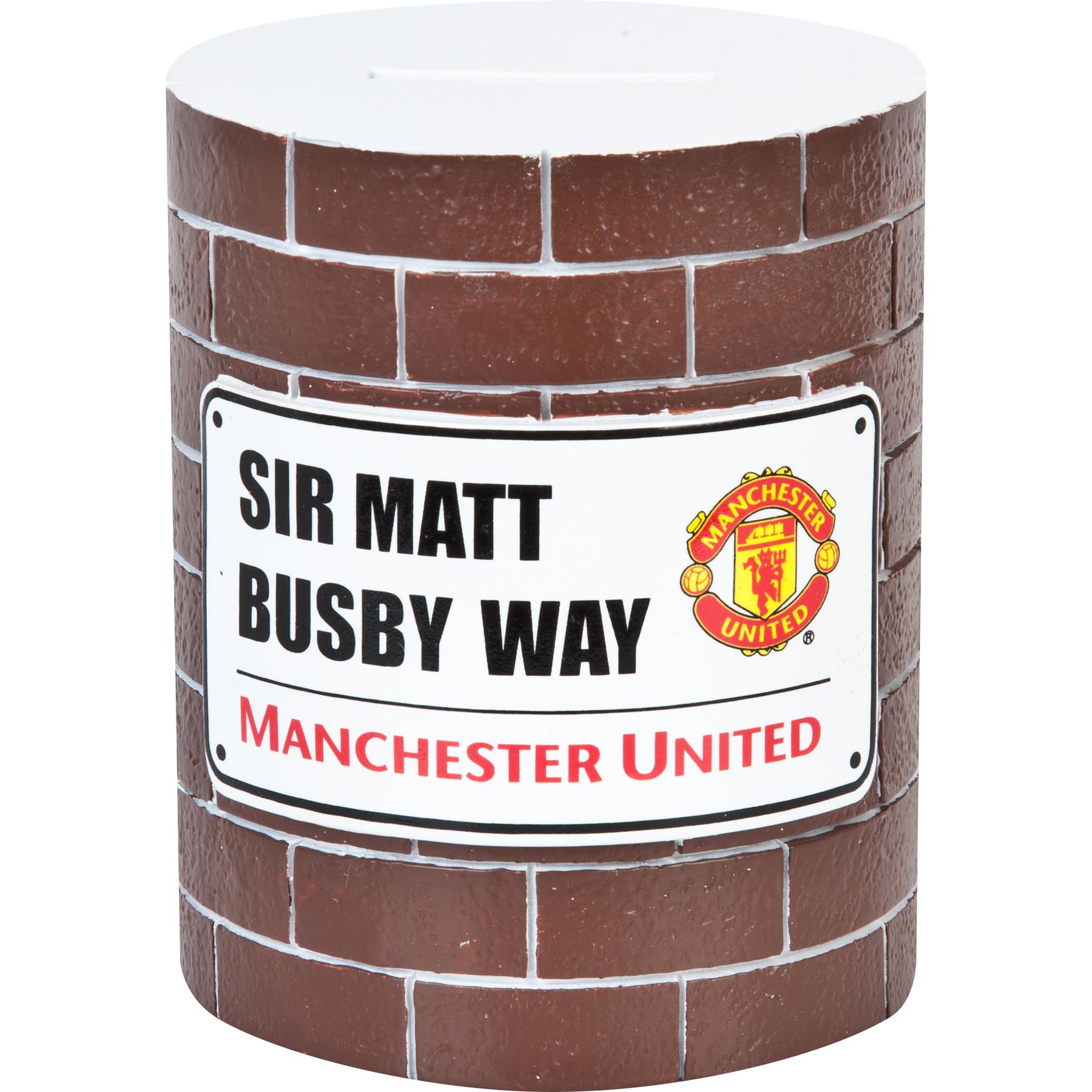 Manchester United Brick Wall Money Bank