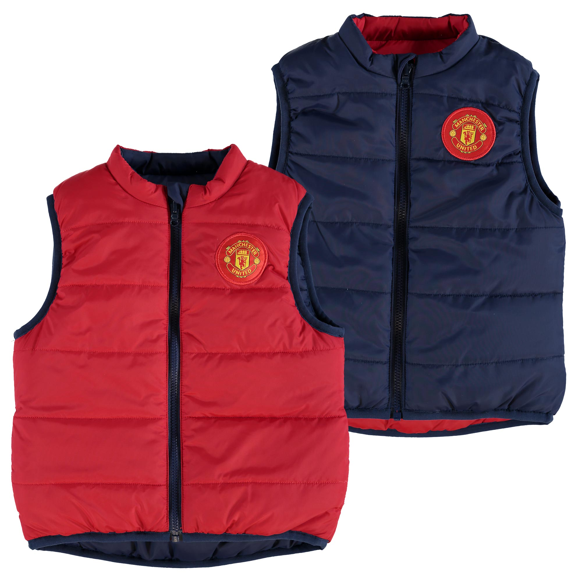 Manchester United Reversible Gilet - Red/Navy - Baby