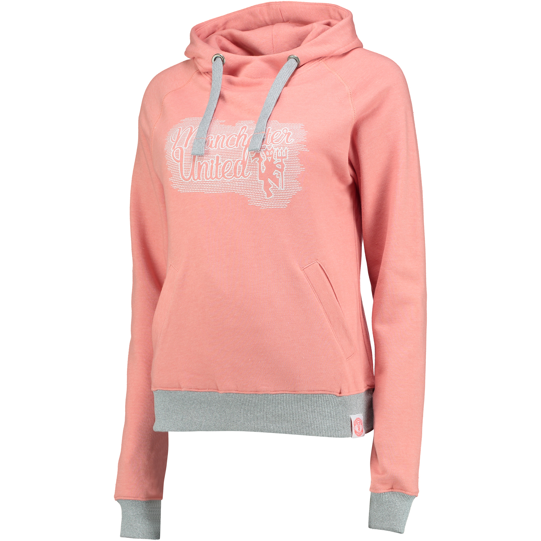 Manchester United Embroidered Slouch Fit Hoodie - Peach Echo - Womens