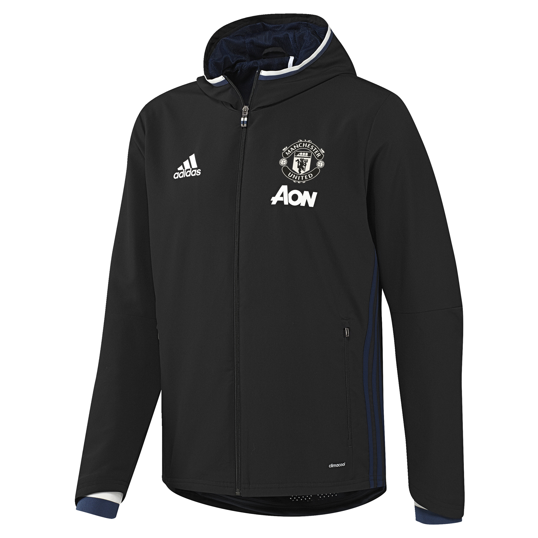 Manchester United Training Presentation Jacket - Black