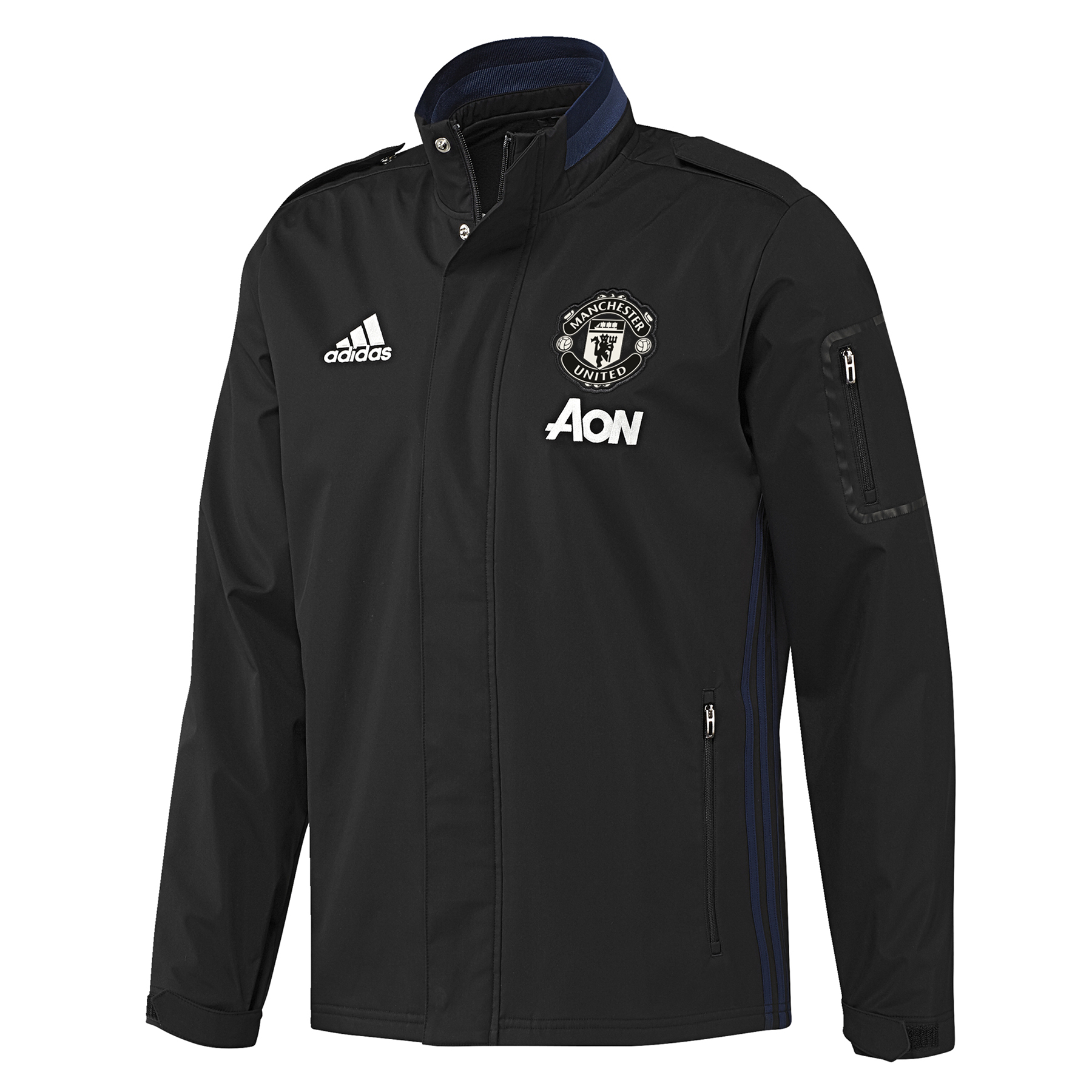 Manchester United Training Travel Jacket - Black