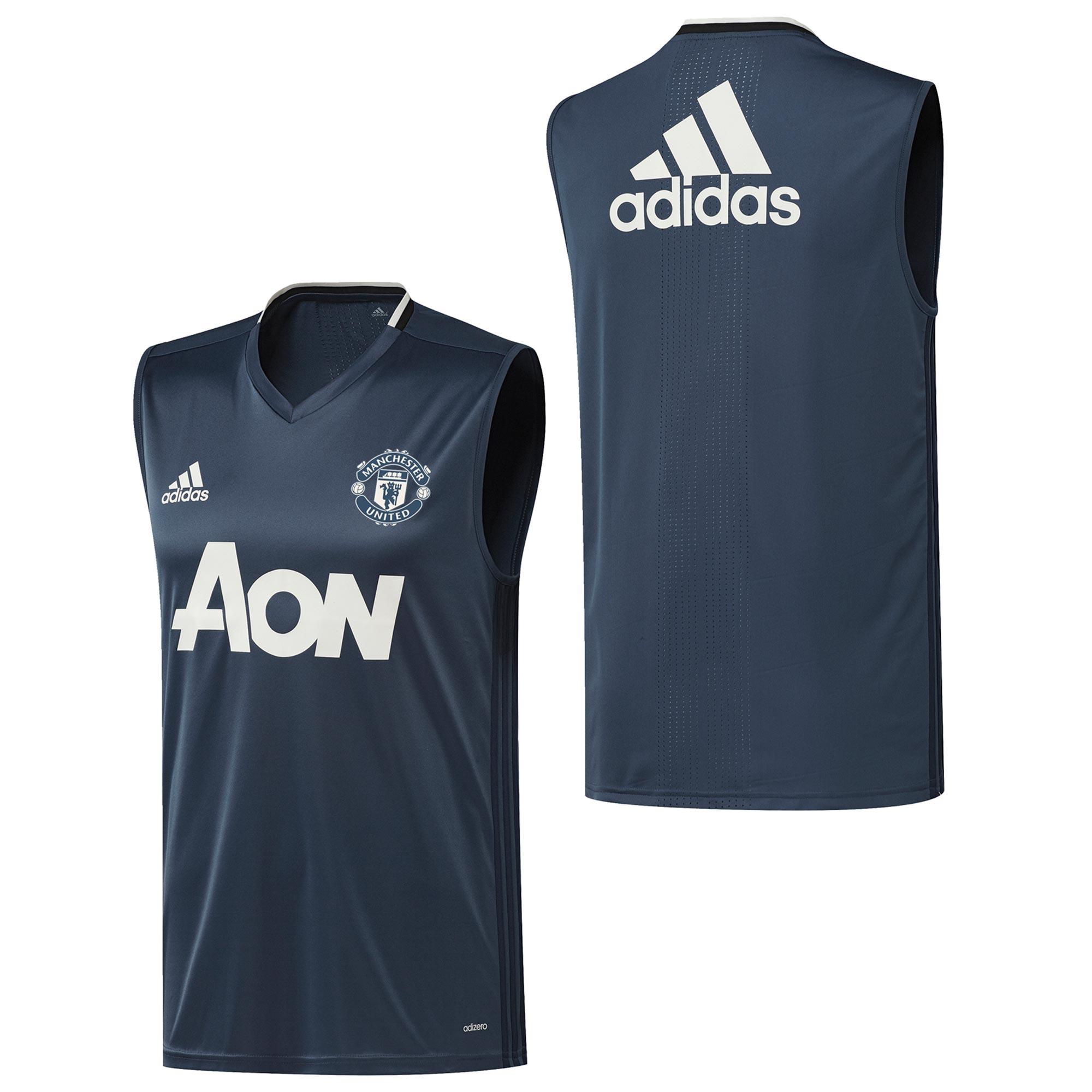 Manchester United Training Sleeveless Jersey - Blue - Kids