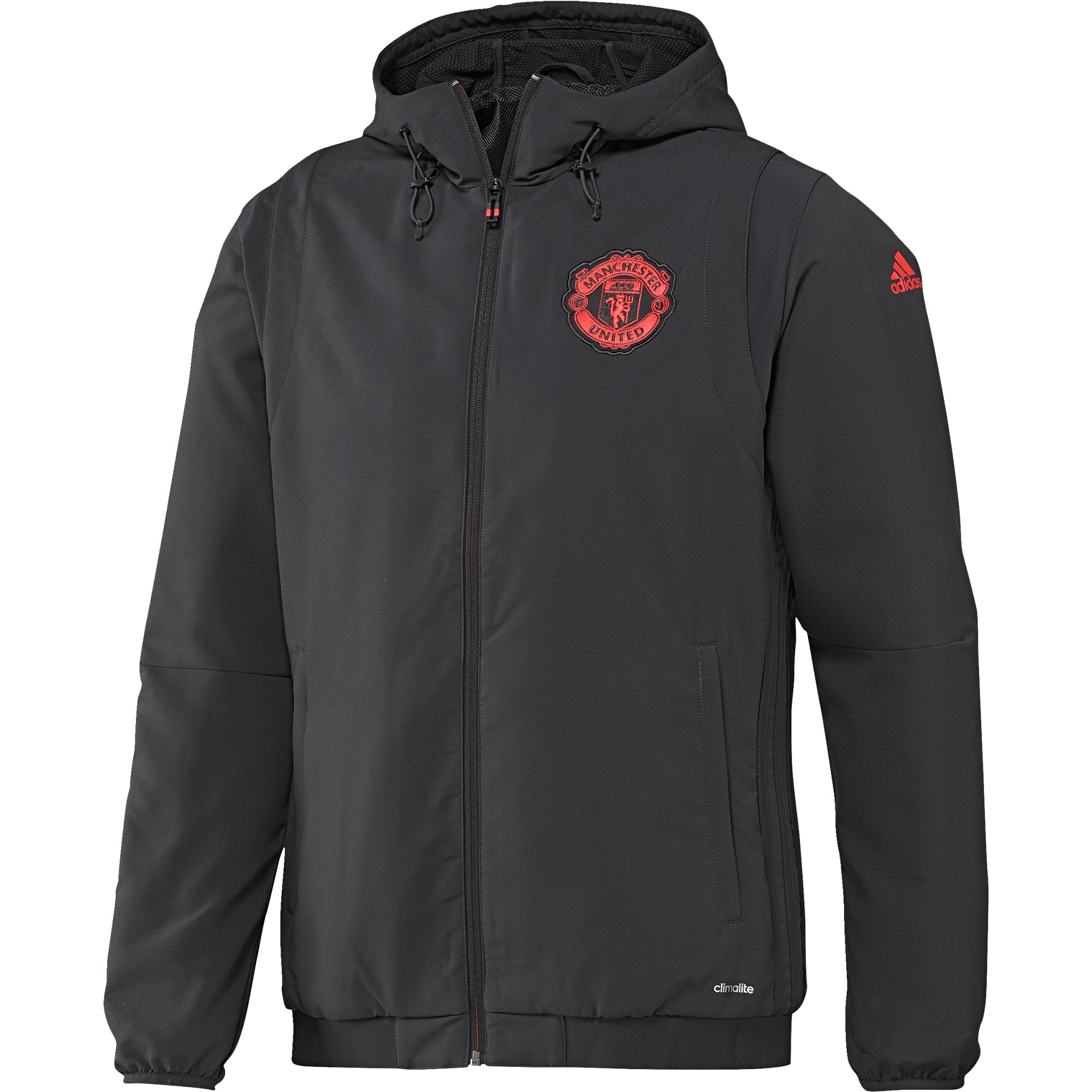 Manchester United Cup Training Presentation Jacket - Black