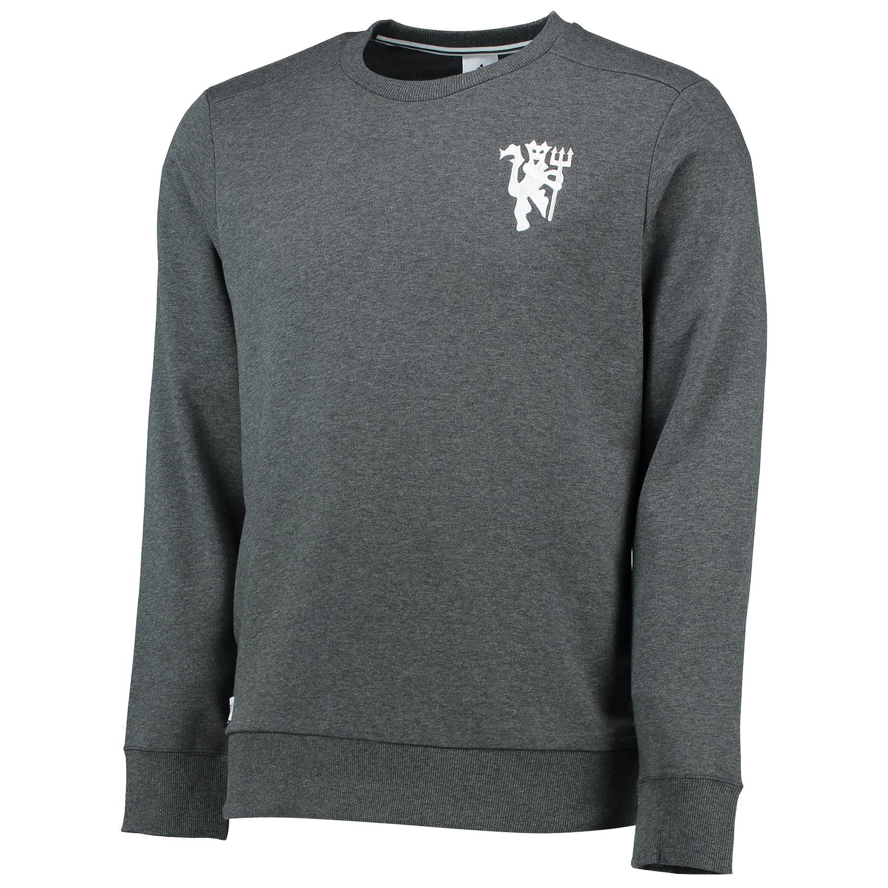 Manchester United Core Crew Sweatshirt - Dark Grey