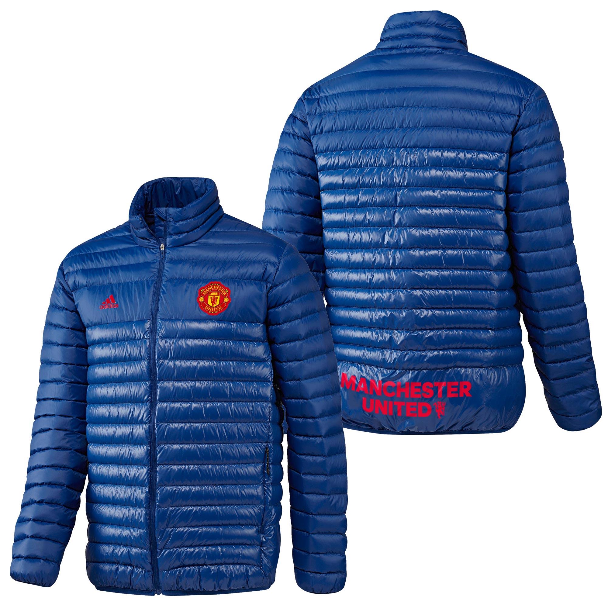 Manchester United Light Down Jacket - Royal Blue