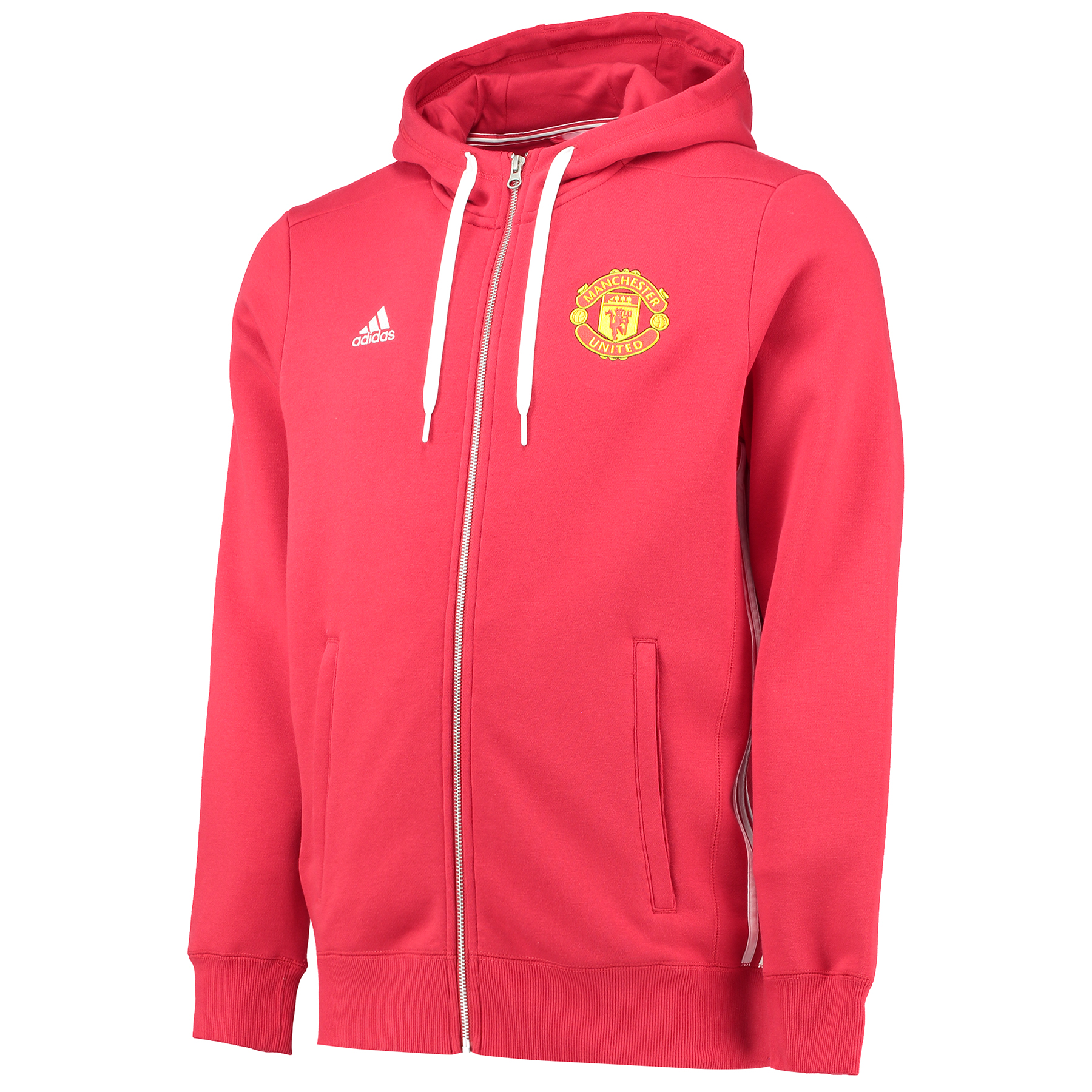 Manchester United Core Full Zip Hoody - Red