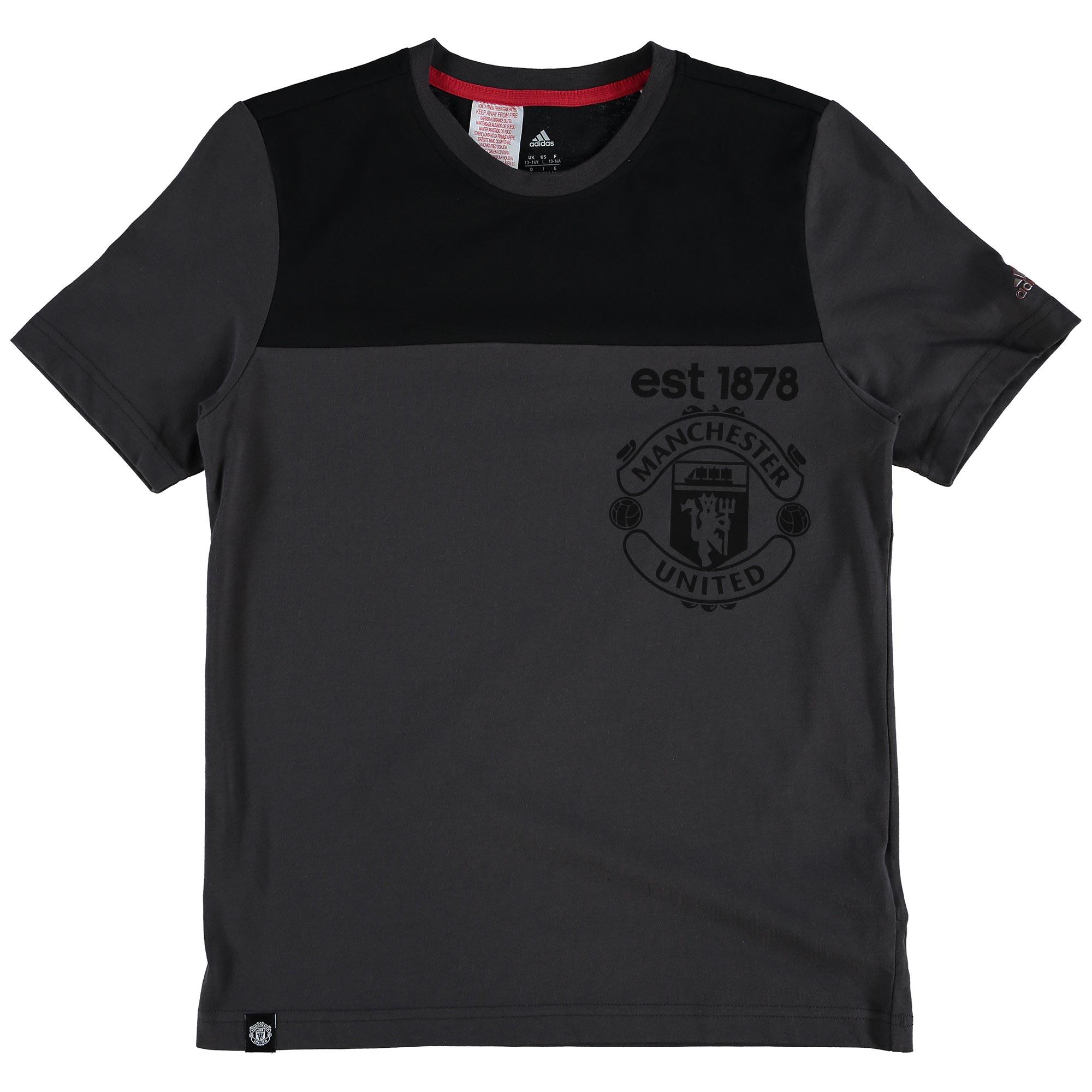 Tee-shirt écusson Manchester United - Noir - Enfant