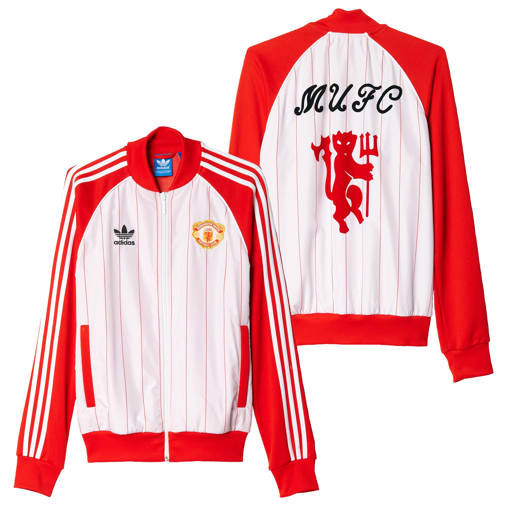 Manchester United Originals Pinstripe Track Top - Red-White