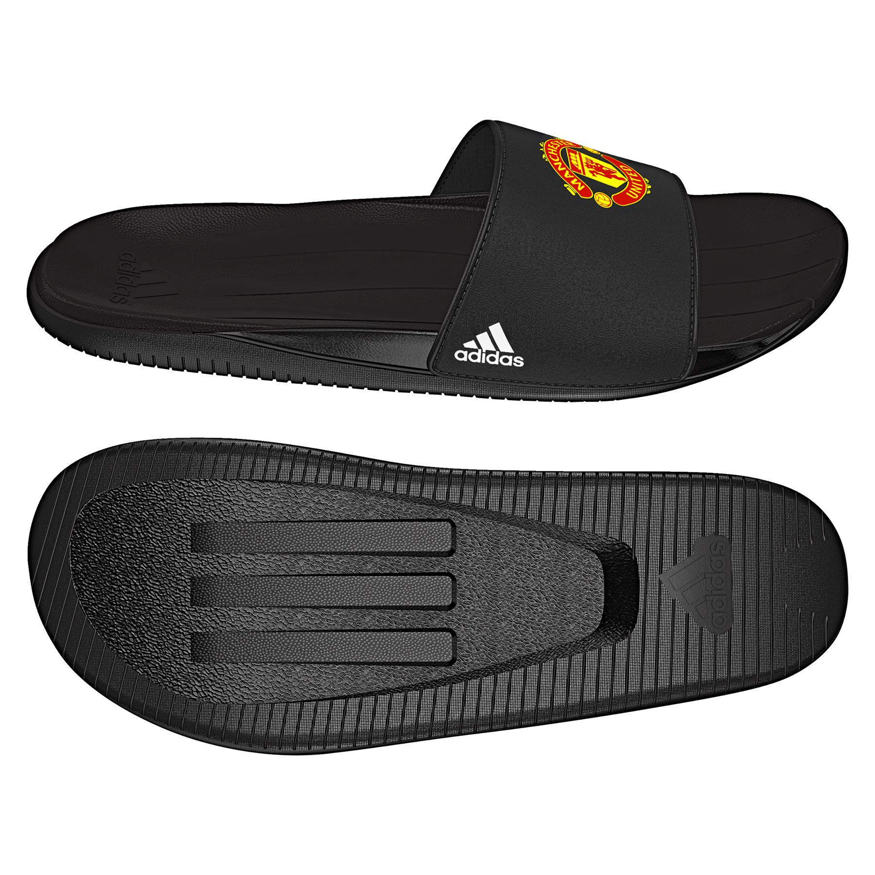 Manchester United Slide Flip Flop - Black