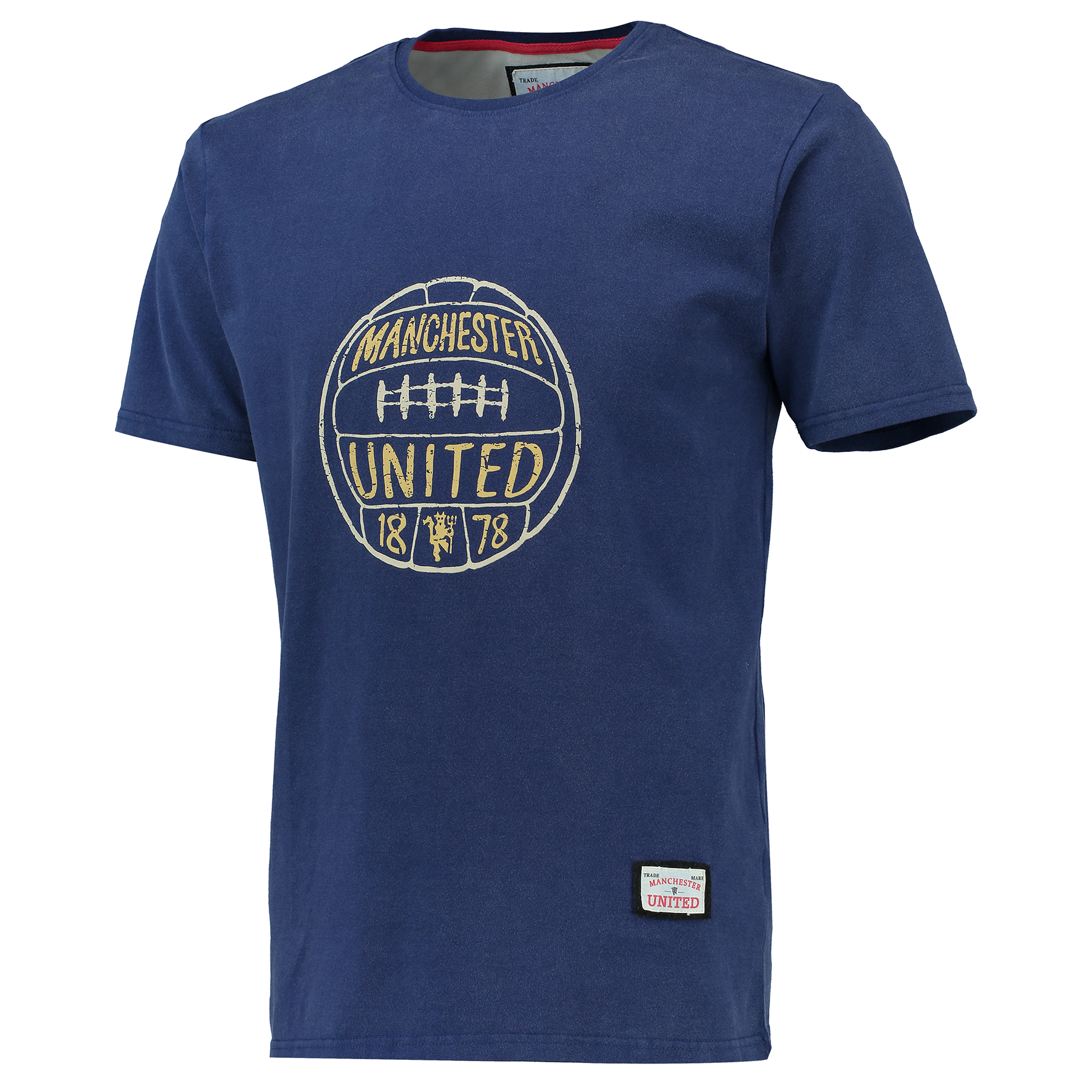 Manchester United Premium Football T-Shirt - Navy - Mens