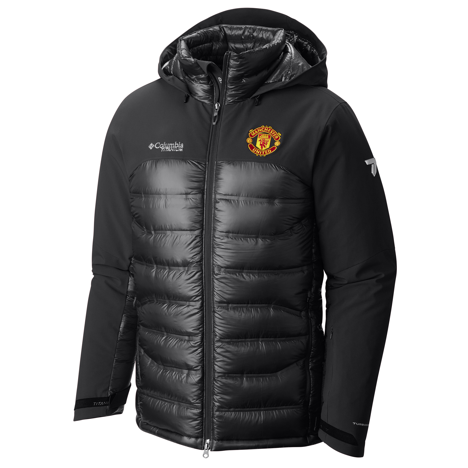 Manchester United Columbia Heatzone 1000 Turbodown Hooded Jacket - Bla