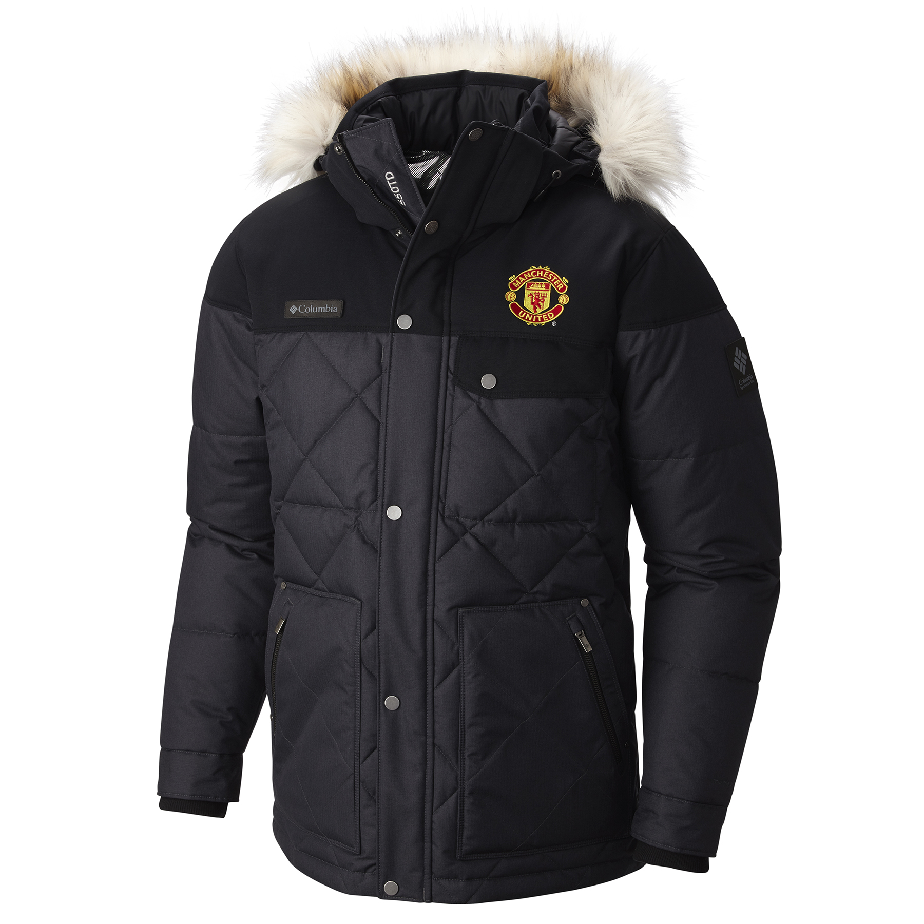 Manchester United Columbia Barlow Pass 550 TurboDown Quilted Jacket -