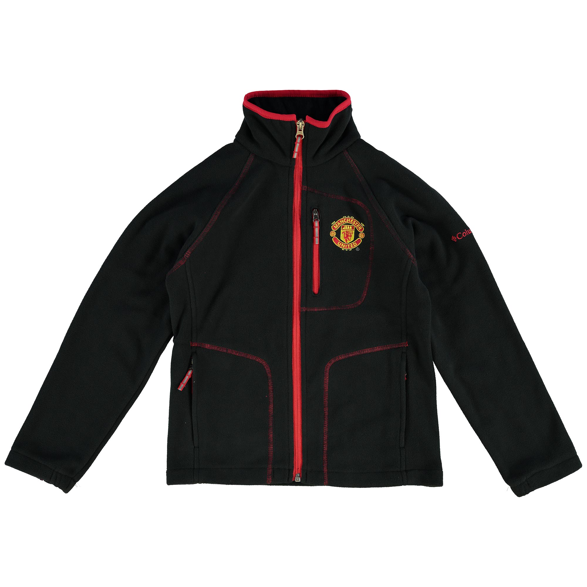 Manchester United Columbia Fast Trek Full Zip Fleece Jacket - Black -