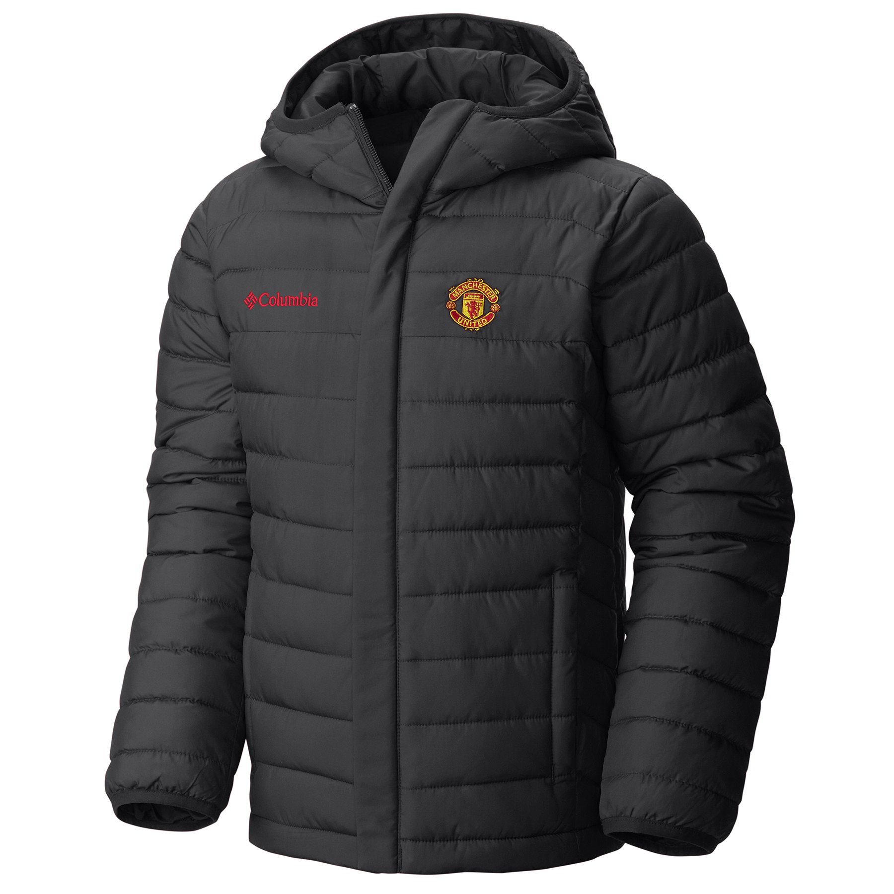 Manchester United Columbia Powder Lite Puffer Jacket - Black - Kids