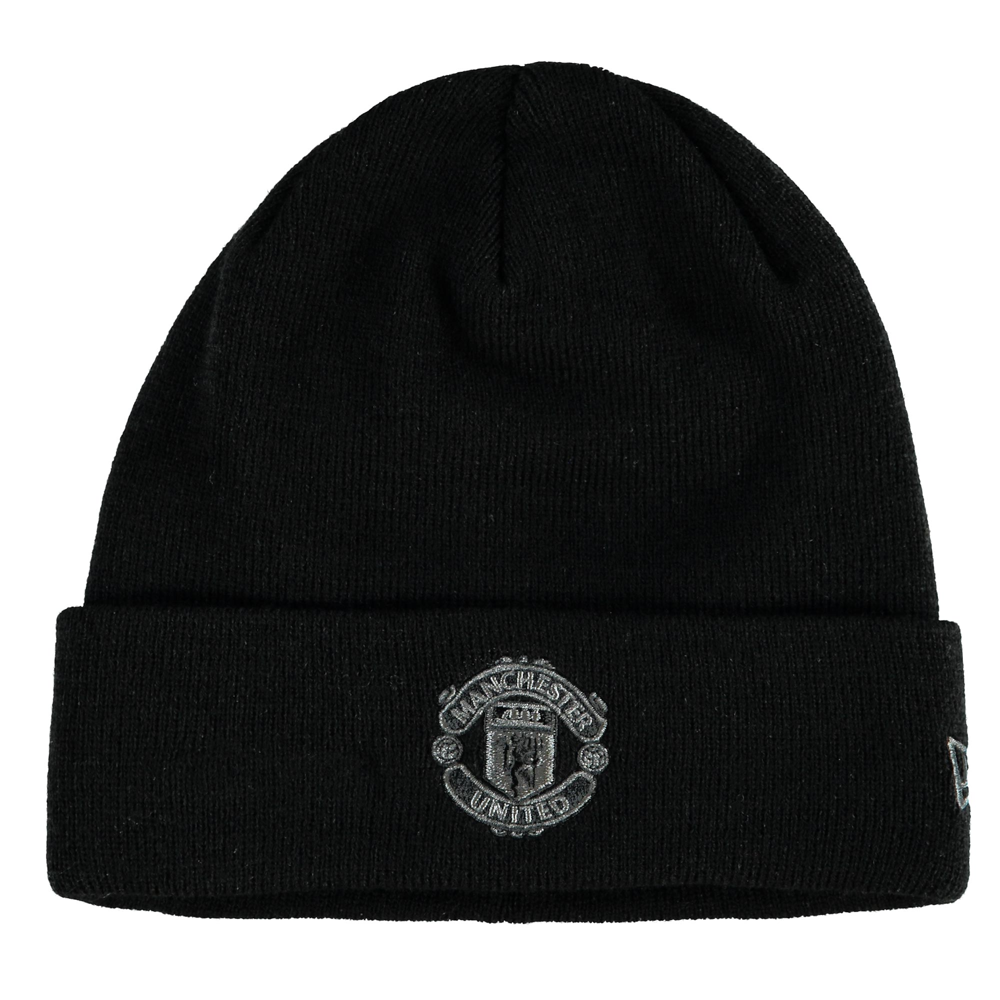 Manchester United New Era Tonal Crest Knit Hat - Black - Adult