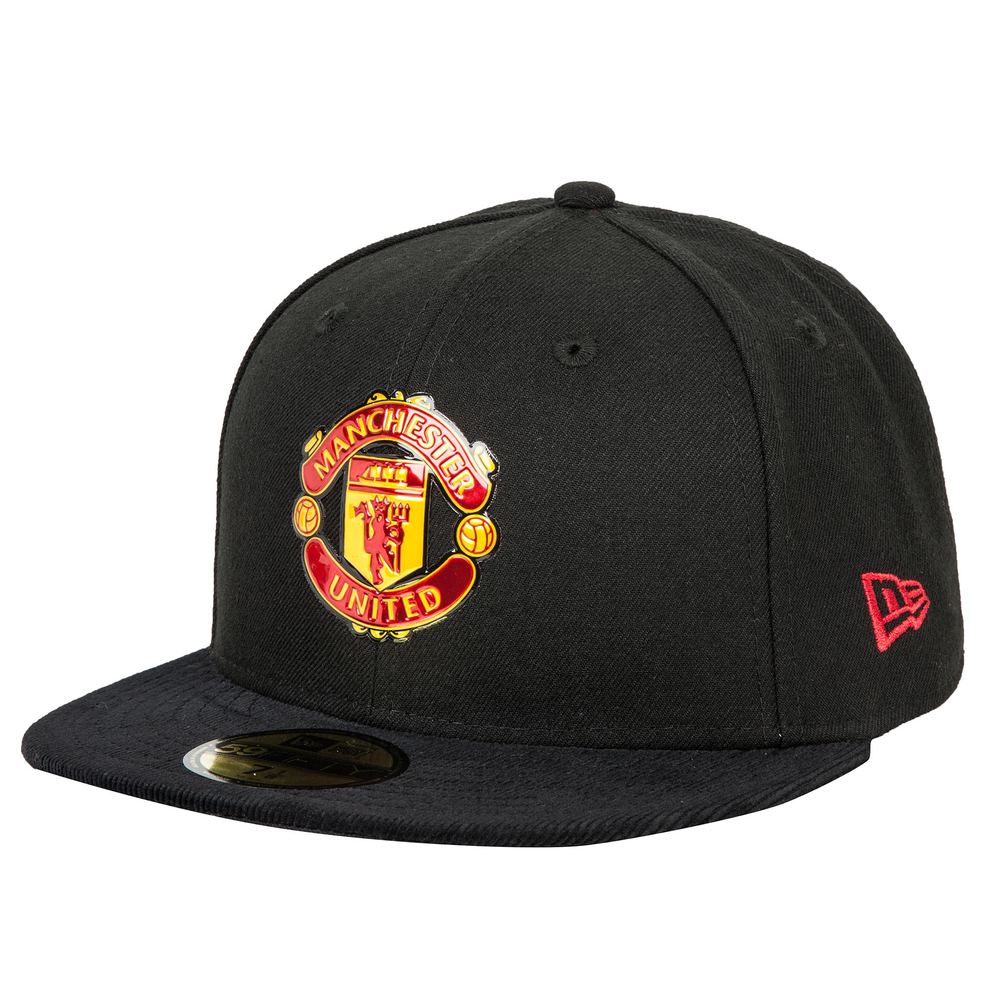 Manchester United New Era 59FIFTY Needlecord Fitted Cap - Black - Adul