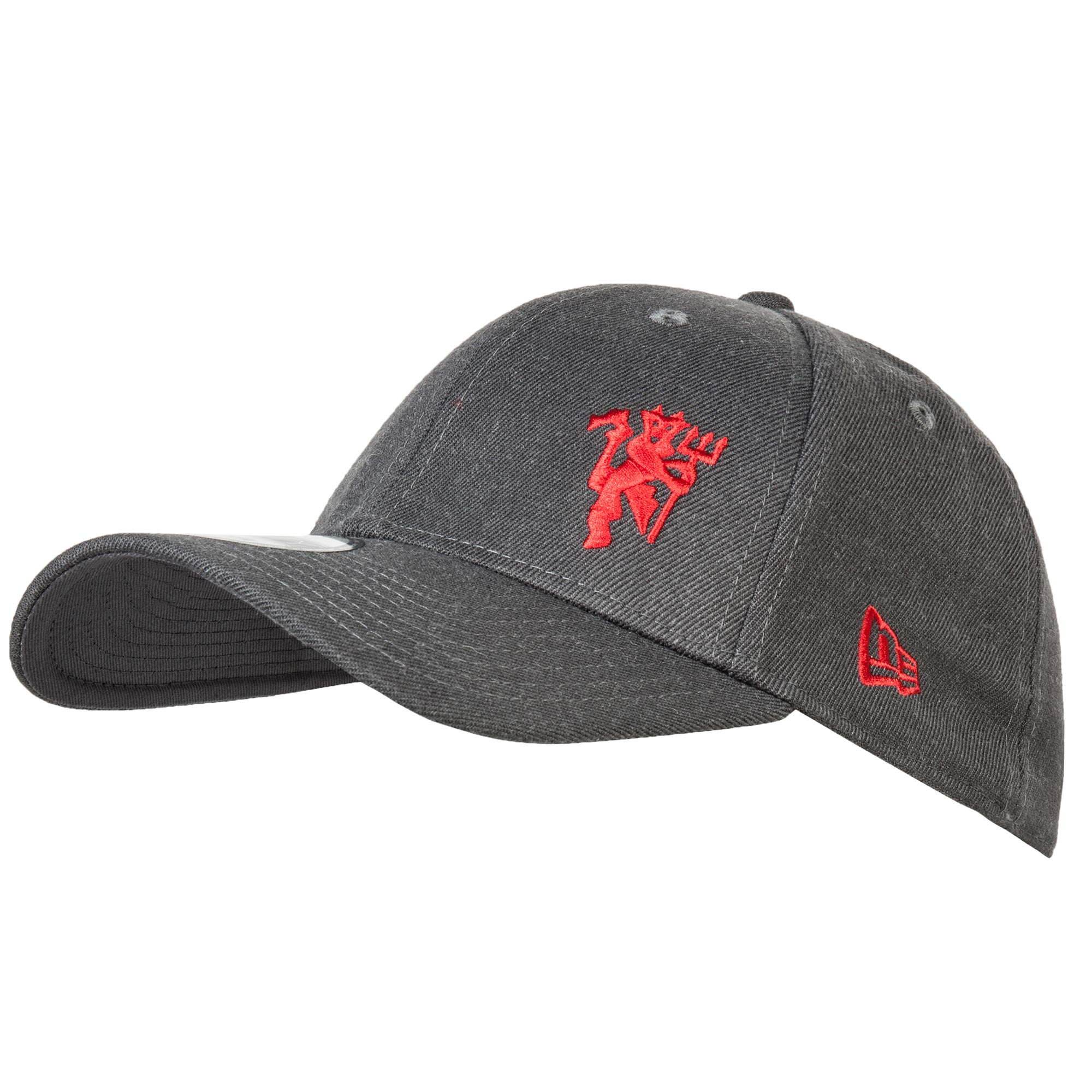 Manchester United New Era 39THIRTY Red Devil Stretch Fit Cap - Heather