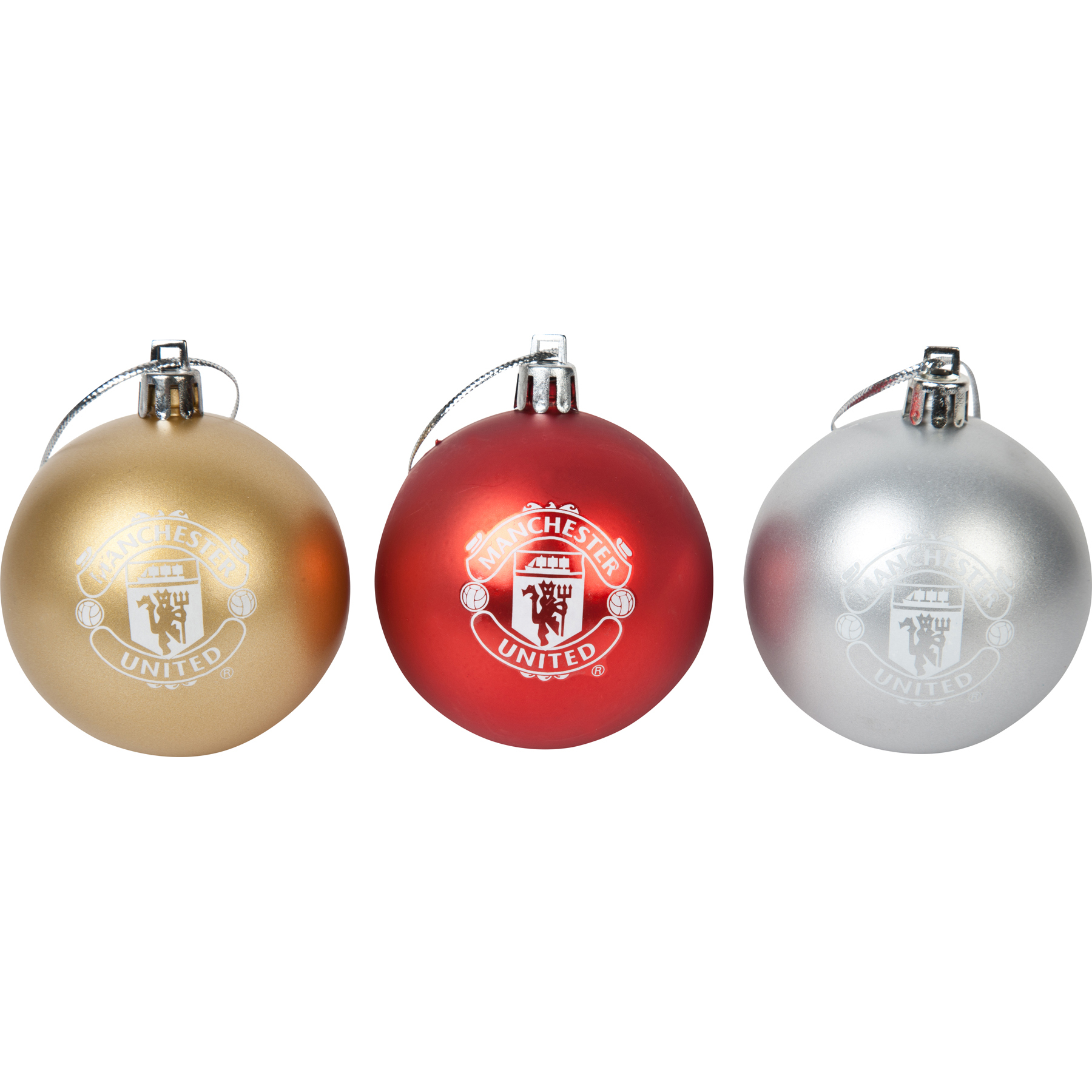 Manchester United Christmas Baubles - 3 Pack