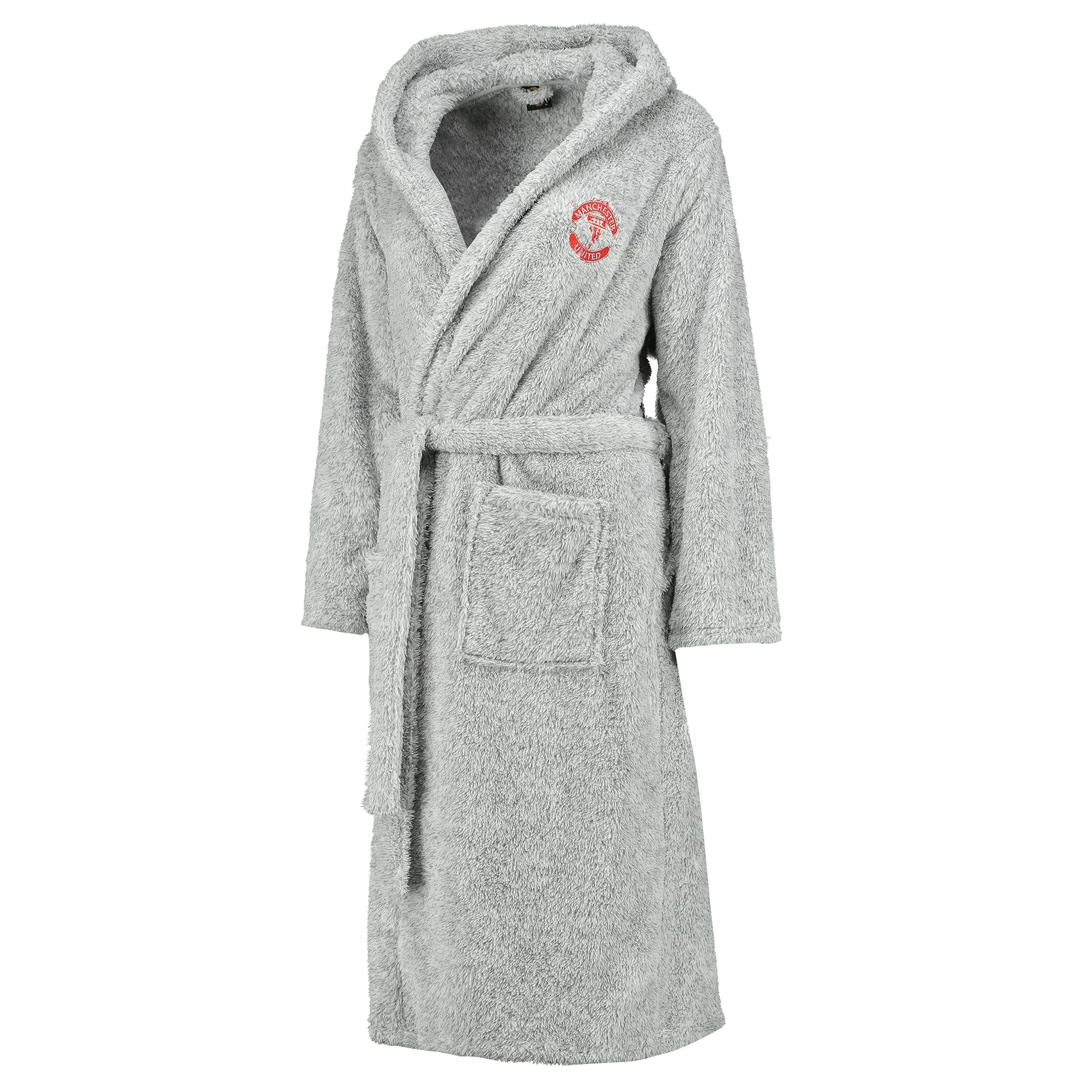 Manchester United Supersoft Hooded Robe - Grey - Womens