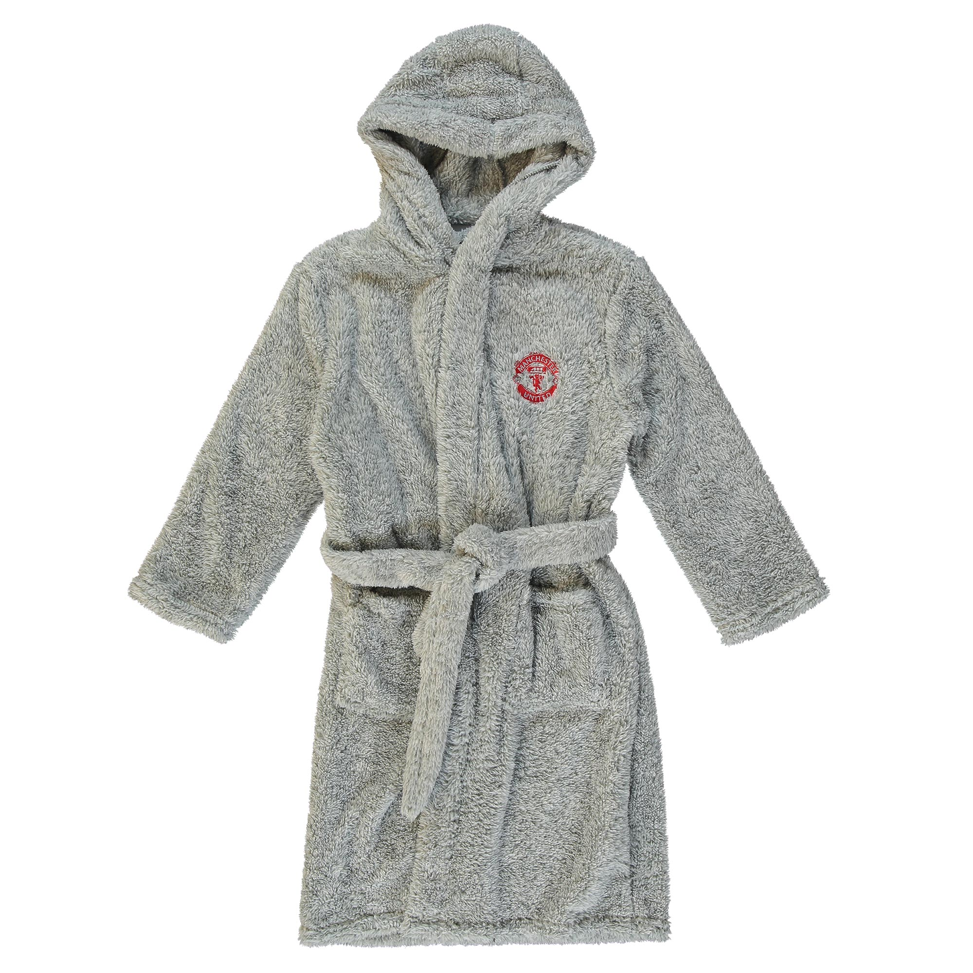 Manchester United Supersoft Hooded Robe - Grey - Girls