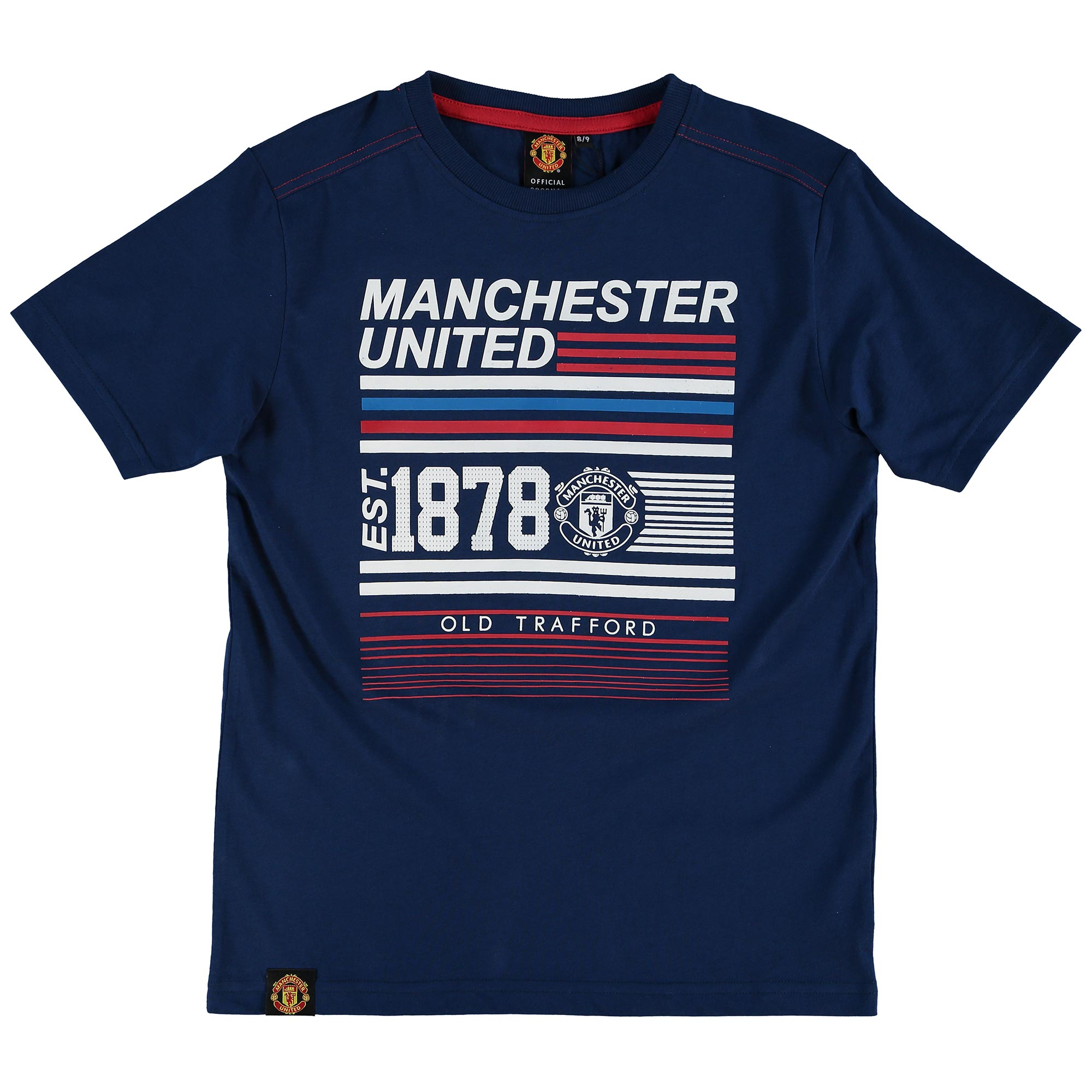 Manchester United 1878 Graphic T-Shirt - Navy - Kids