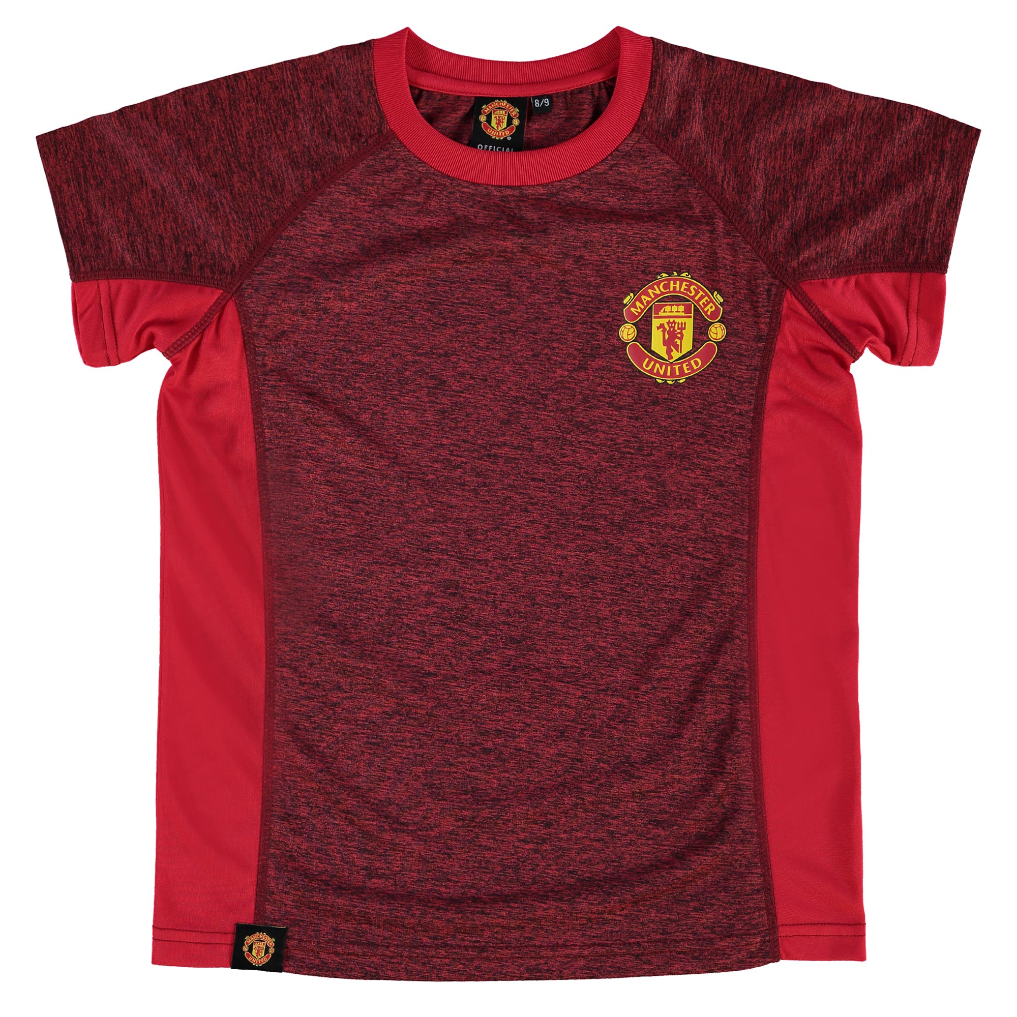 Manchester United Essential Polyester T-Shirt - Red - Marl - Kids