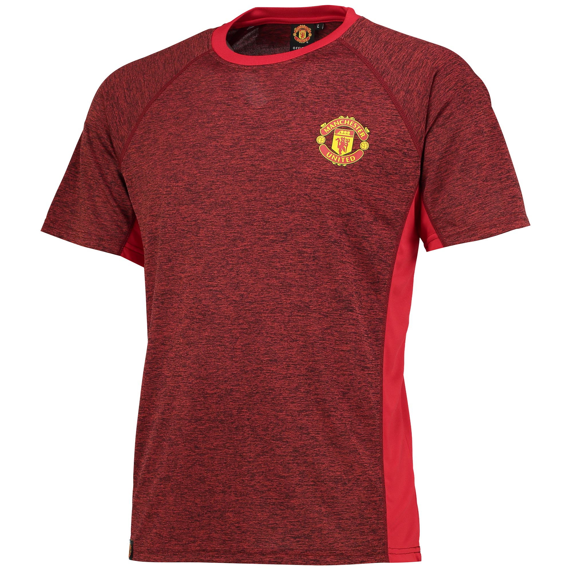 Manchester United Essential Polyester T-Shirt - Red Marl - Mens