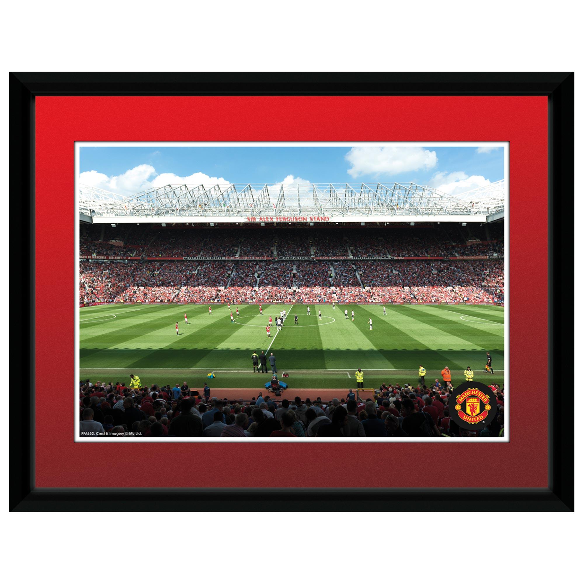 Manchester United Old Trafford Framed Print - 8 x 6 Inch