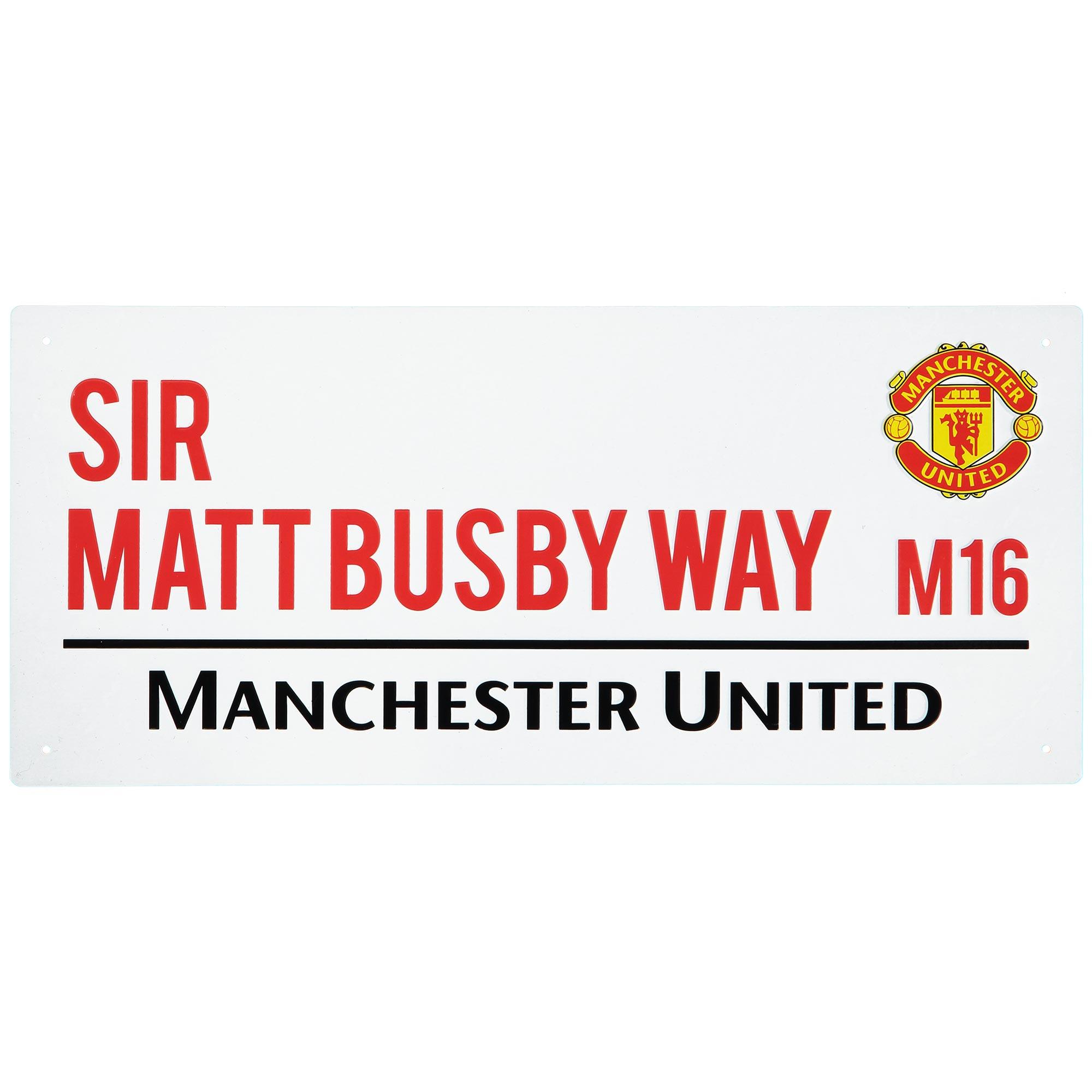 Manchester United Sir Matt Busby Way Street Sign