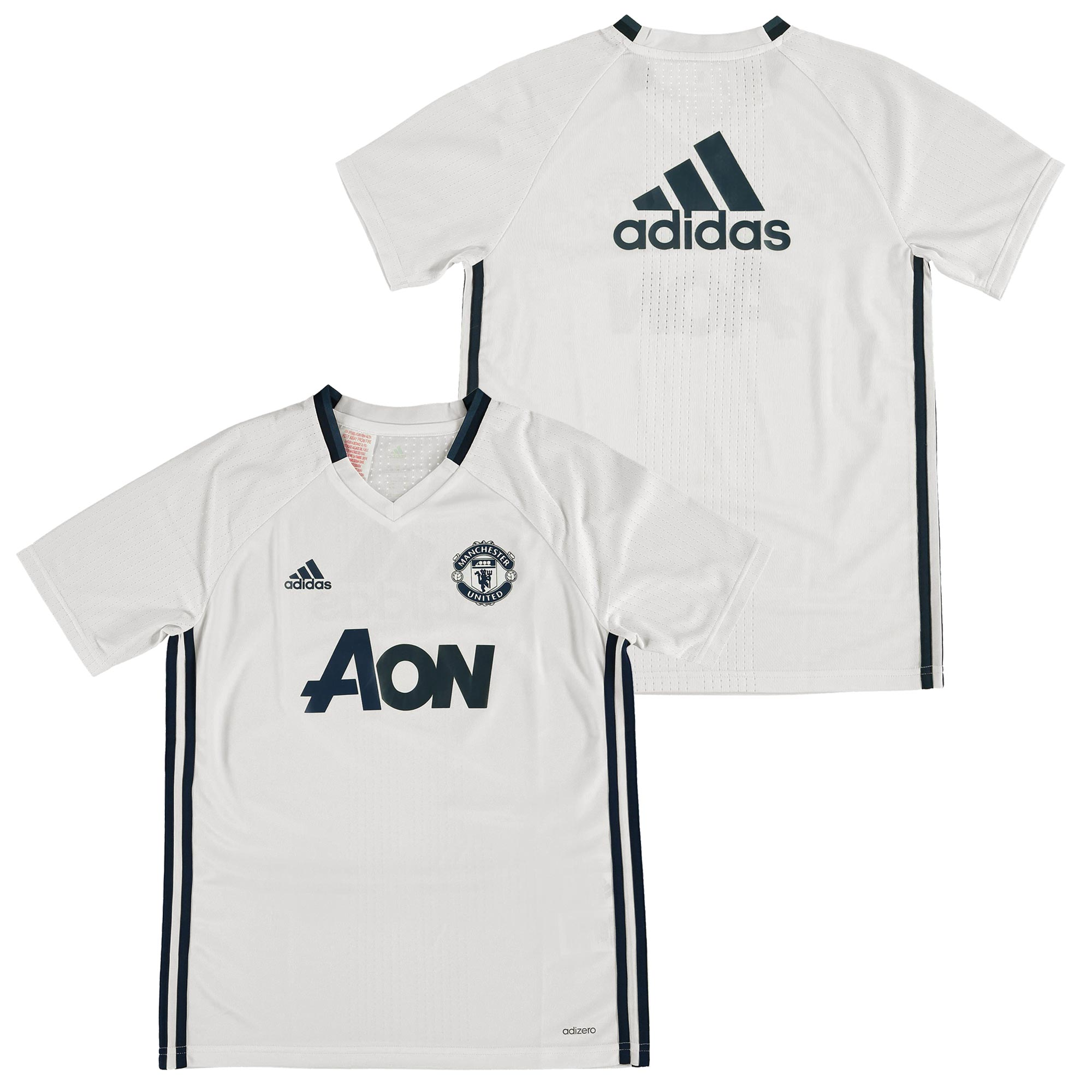 Manchester United Training Jersey - White - Kids