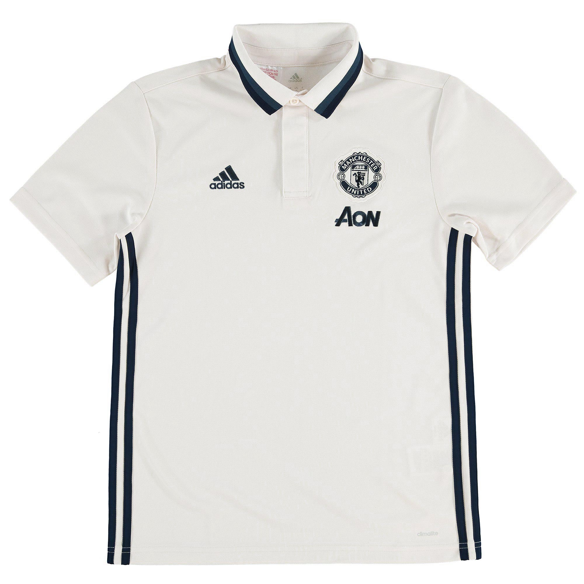 Manchester United Training Polo - White - Kids