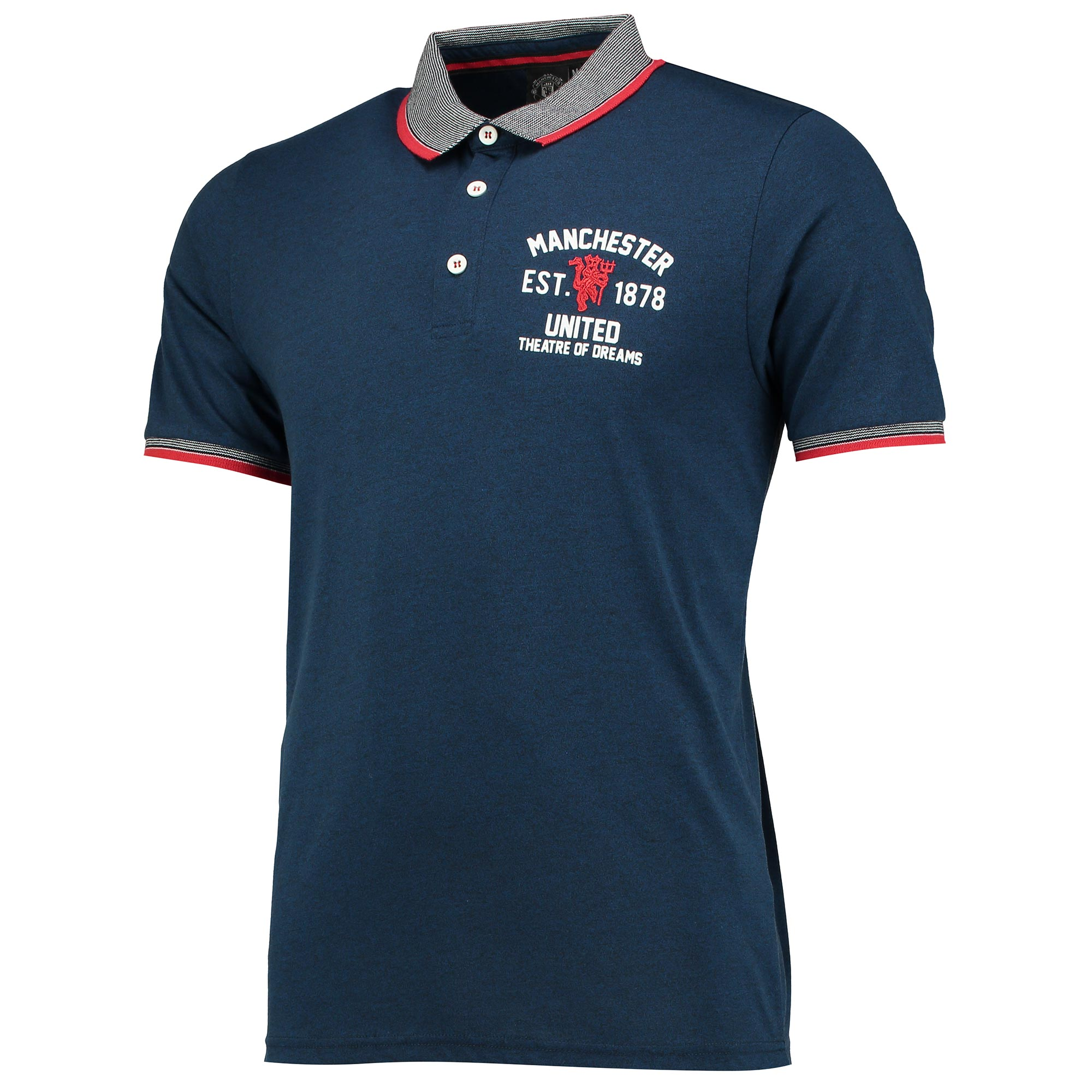 Manchester United Premium Established 1878 Polo Shirt - Blue Marl - Me