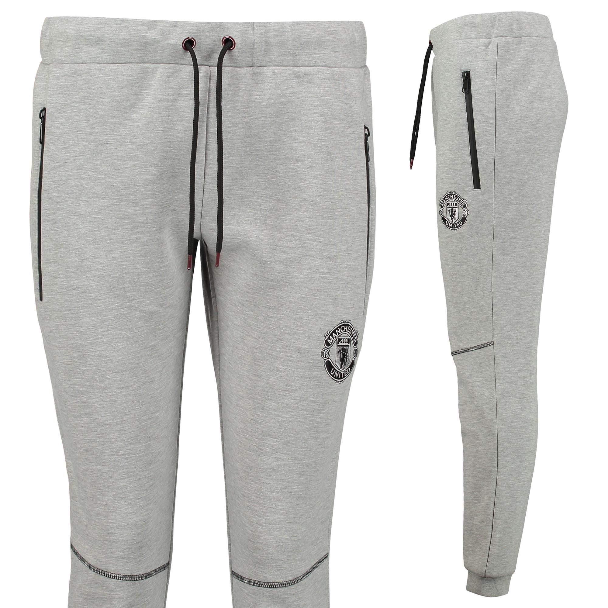 Manchester United Fleece Joggers - Grey Marl - Womens