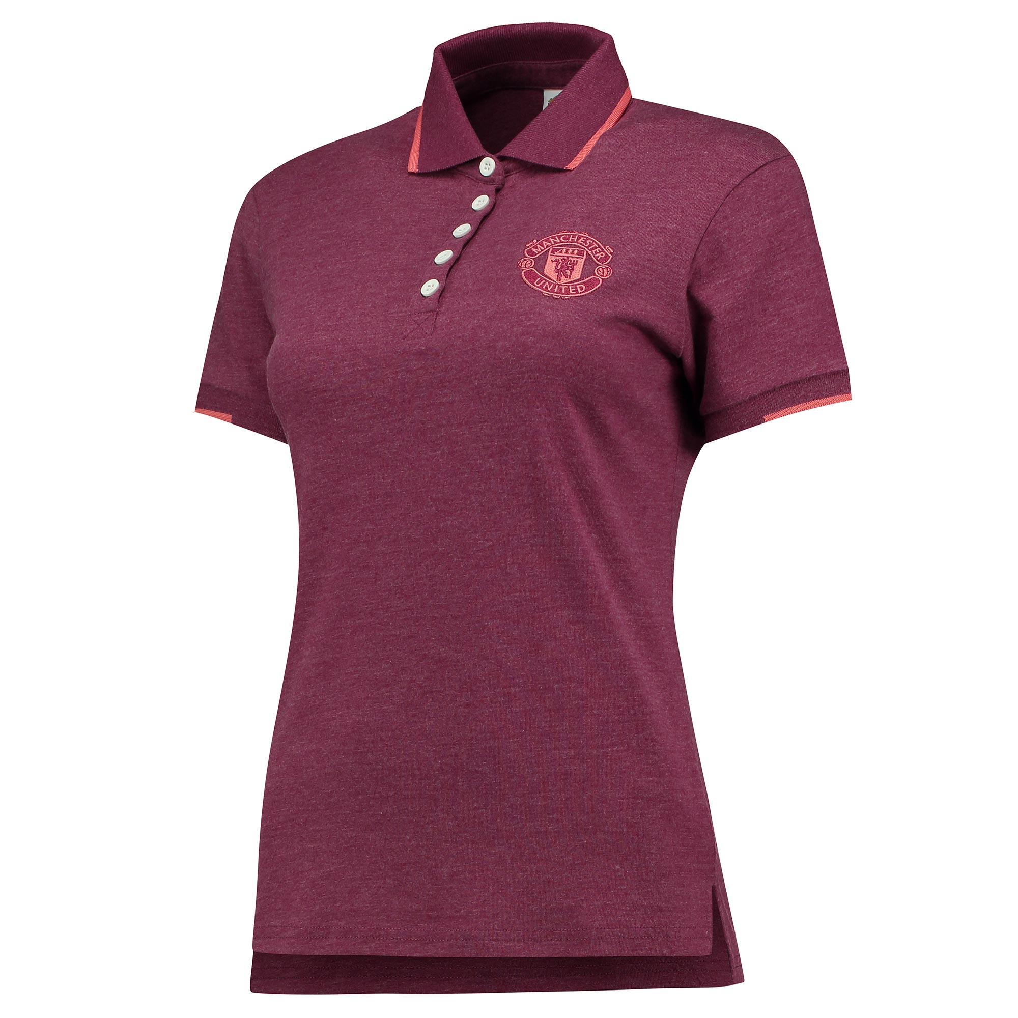 Manchester United Tipped Polo Shirt - Mulberry - Womens