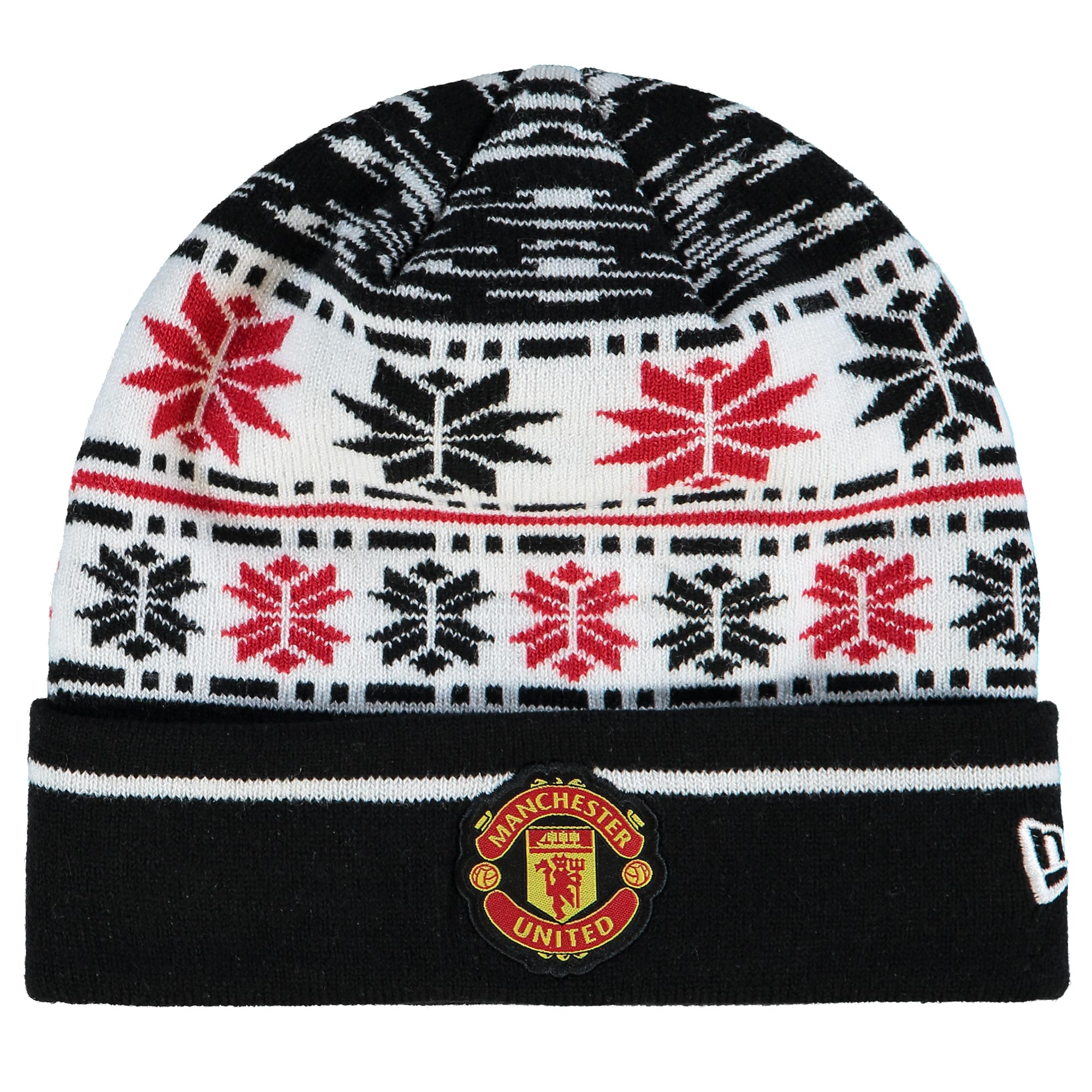 Manchester United Fairisle Knit Hat - Black - Adult