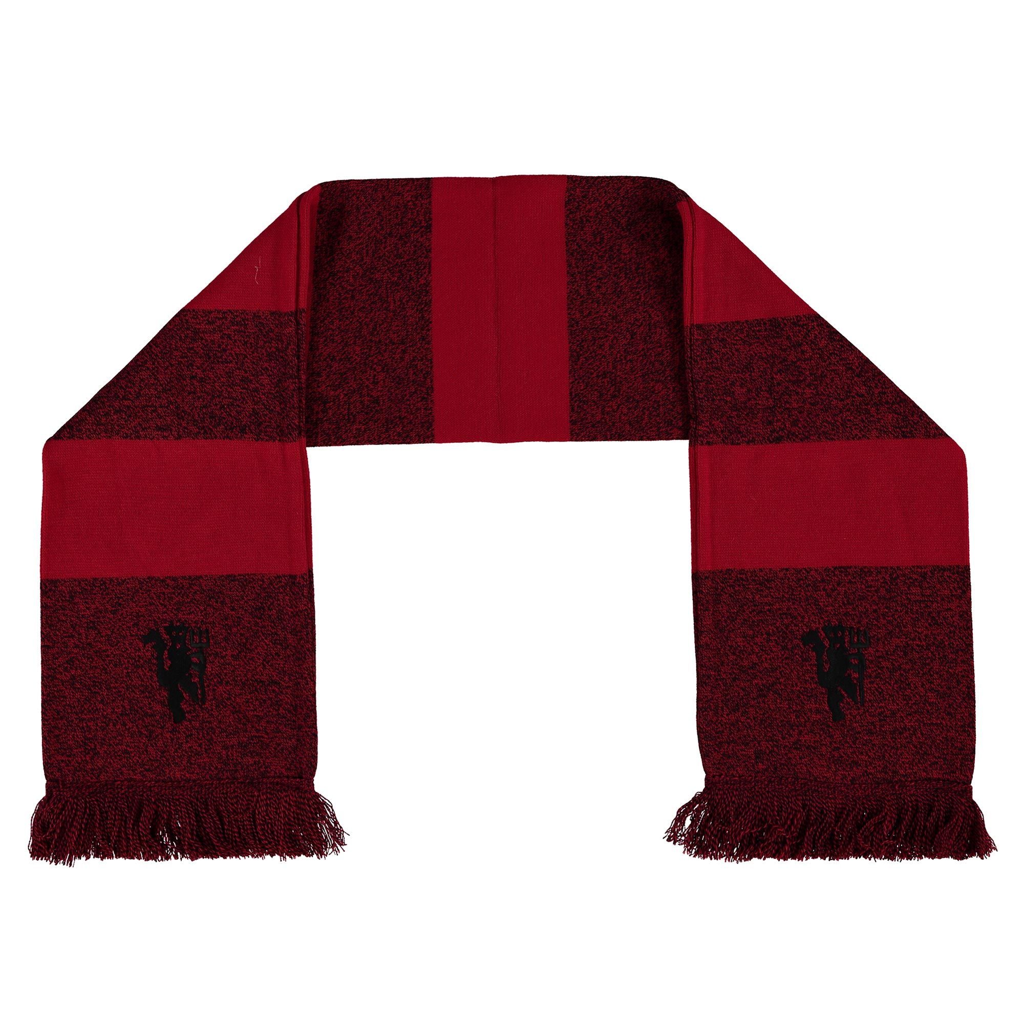 Manchester United Marl Striped Scarf - Red - Adult