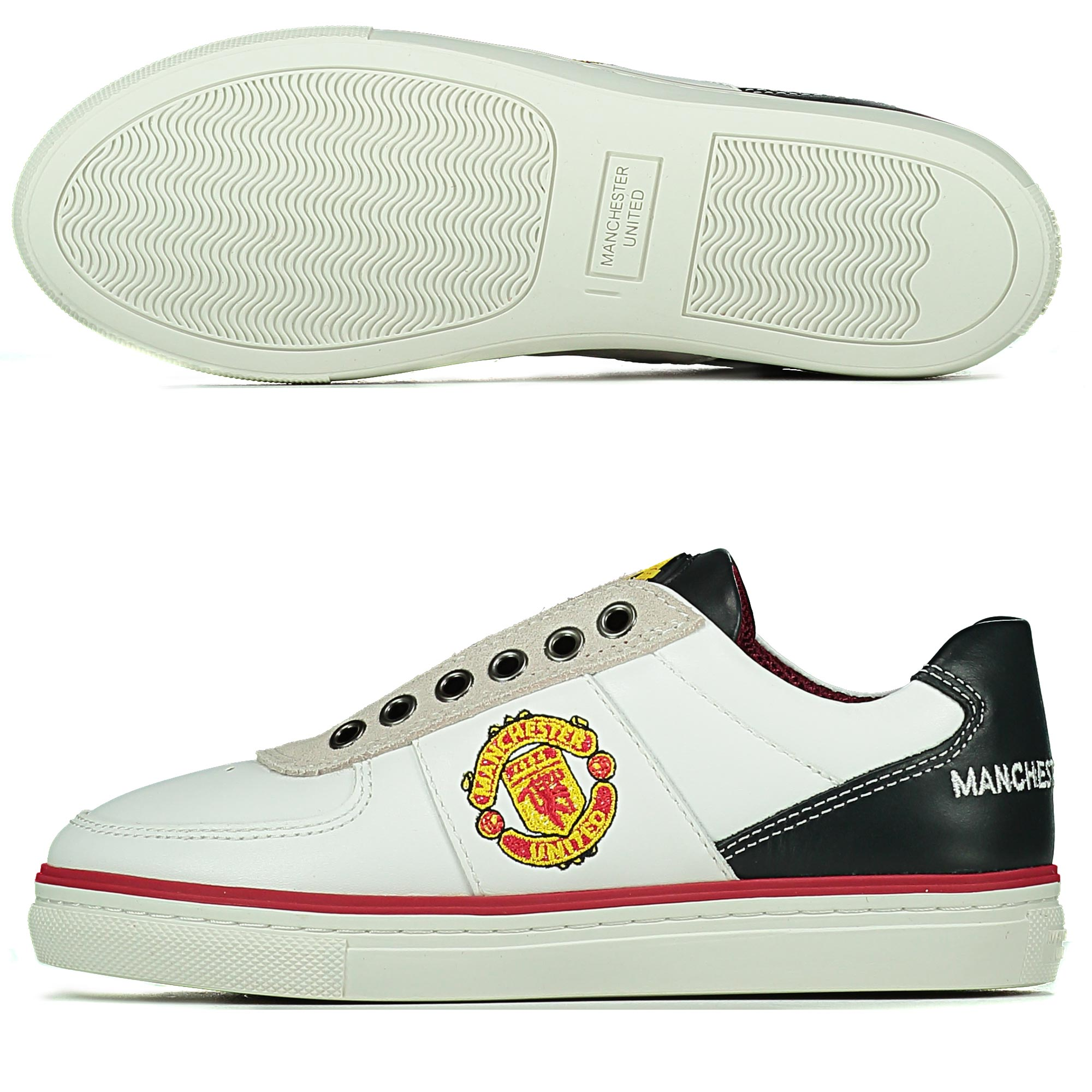 Manchester United Lifestyle Trainers - White - Kids