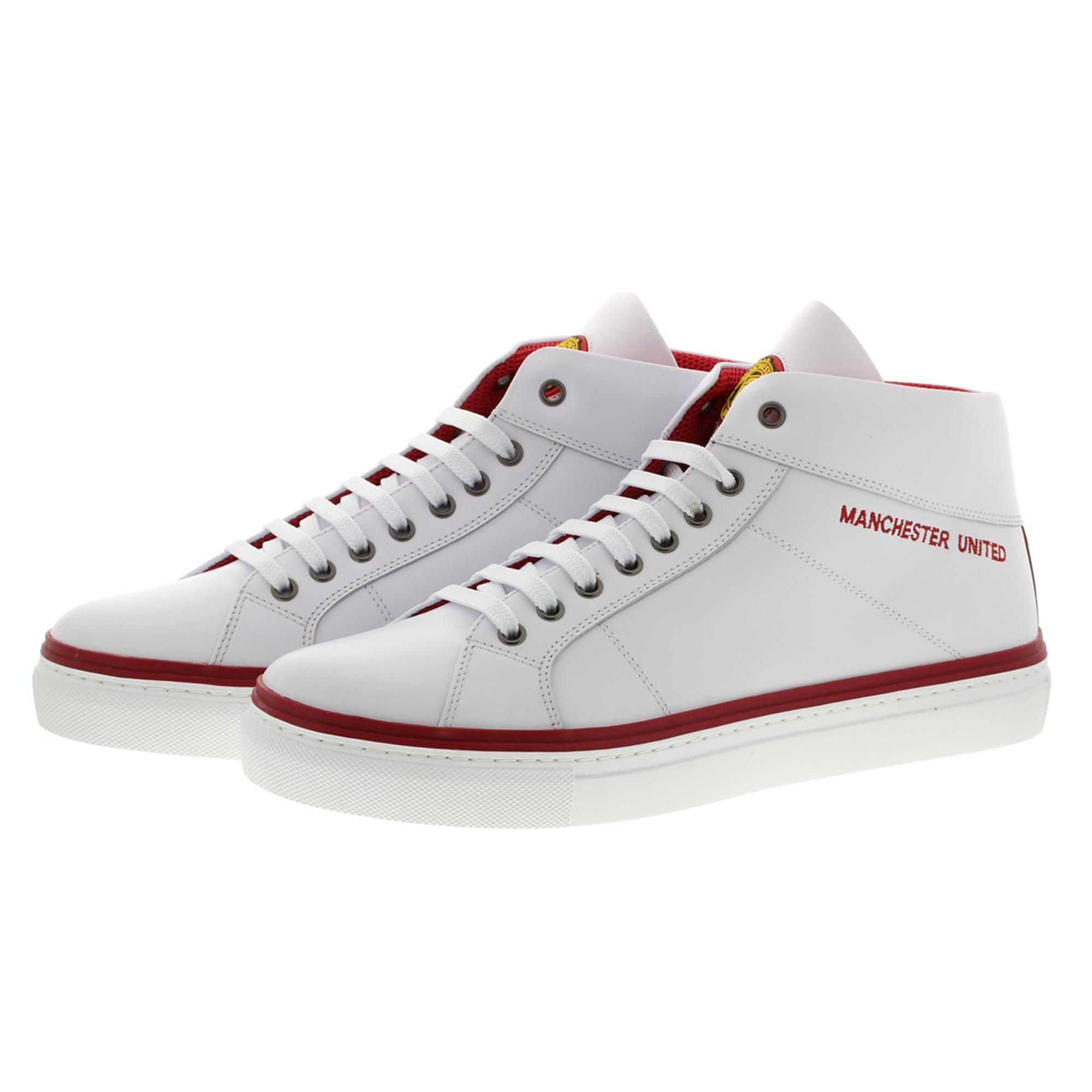 Manchester United Trinity Lifestyle Trainers - White - Mens