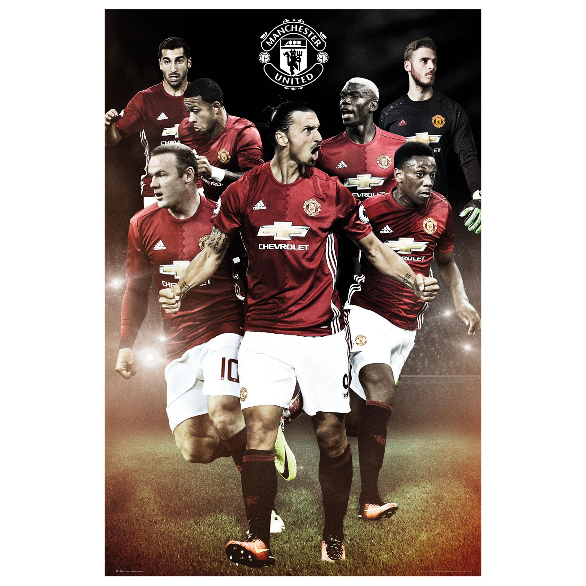 Manchester United 16-17 Players Poster - 61 x 92cm