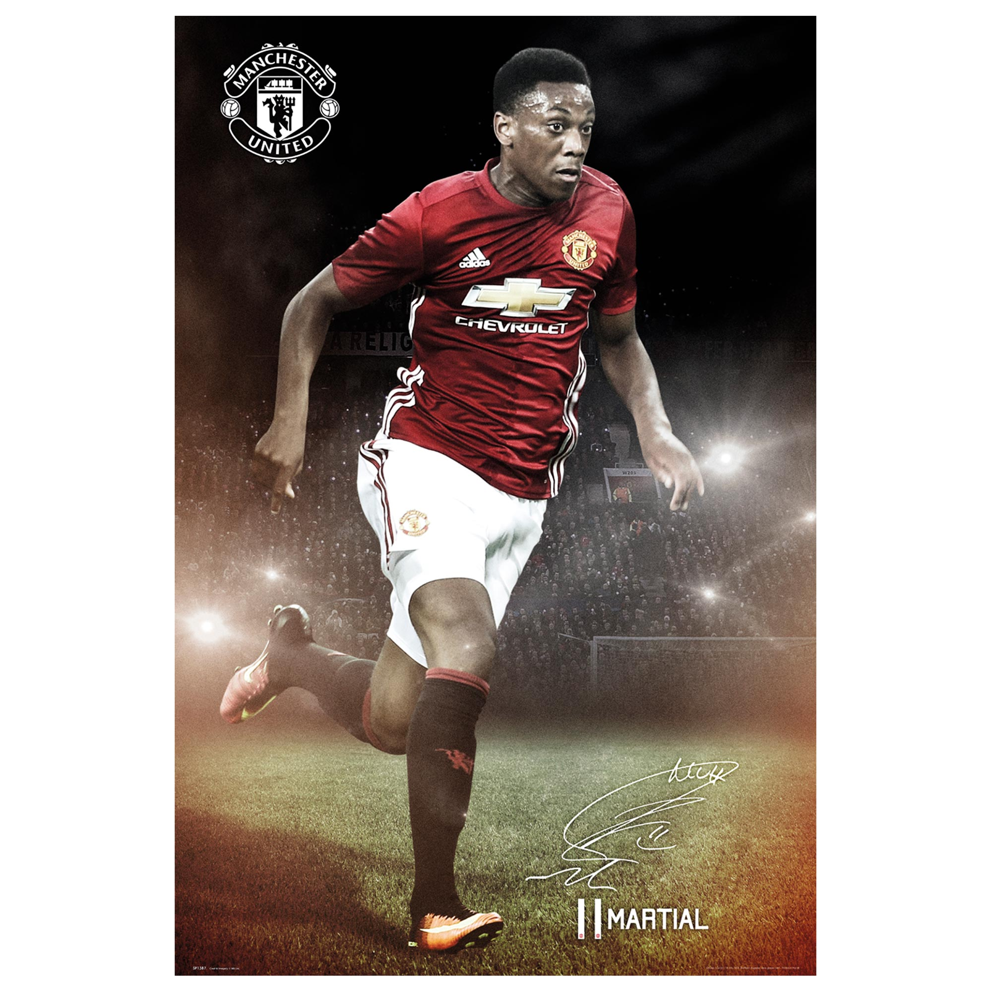 Manchester United 16-17 Martial Poster - 61 x 92cm