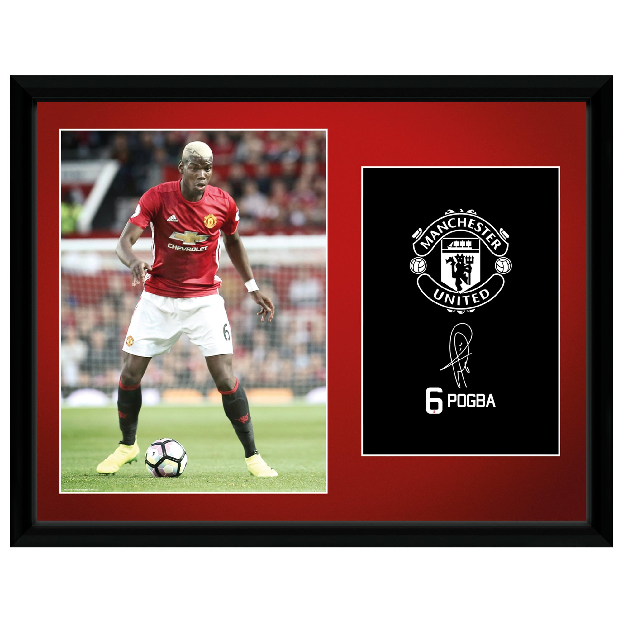 Manchester United 16-17 Pogba Framed Print 16 x 12