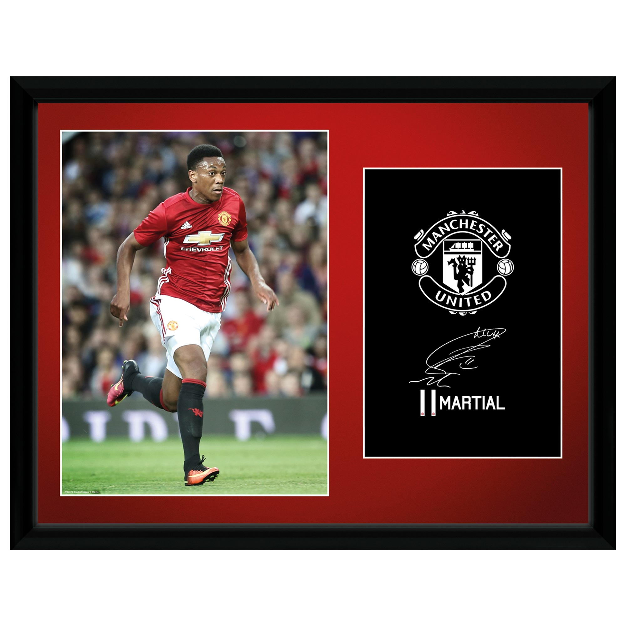 Manchester United 16-17 Martial Framed Print 16 x 12