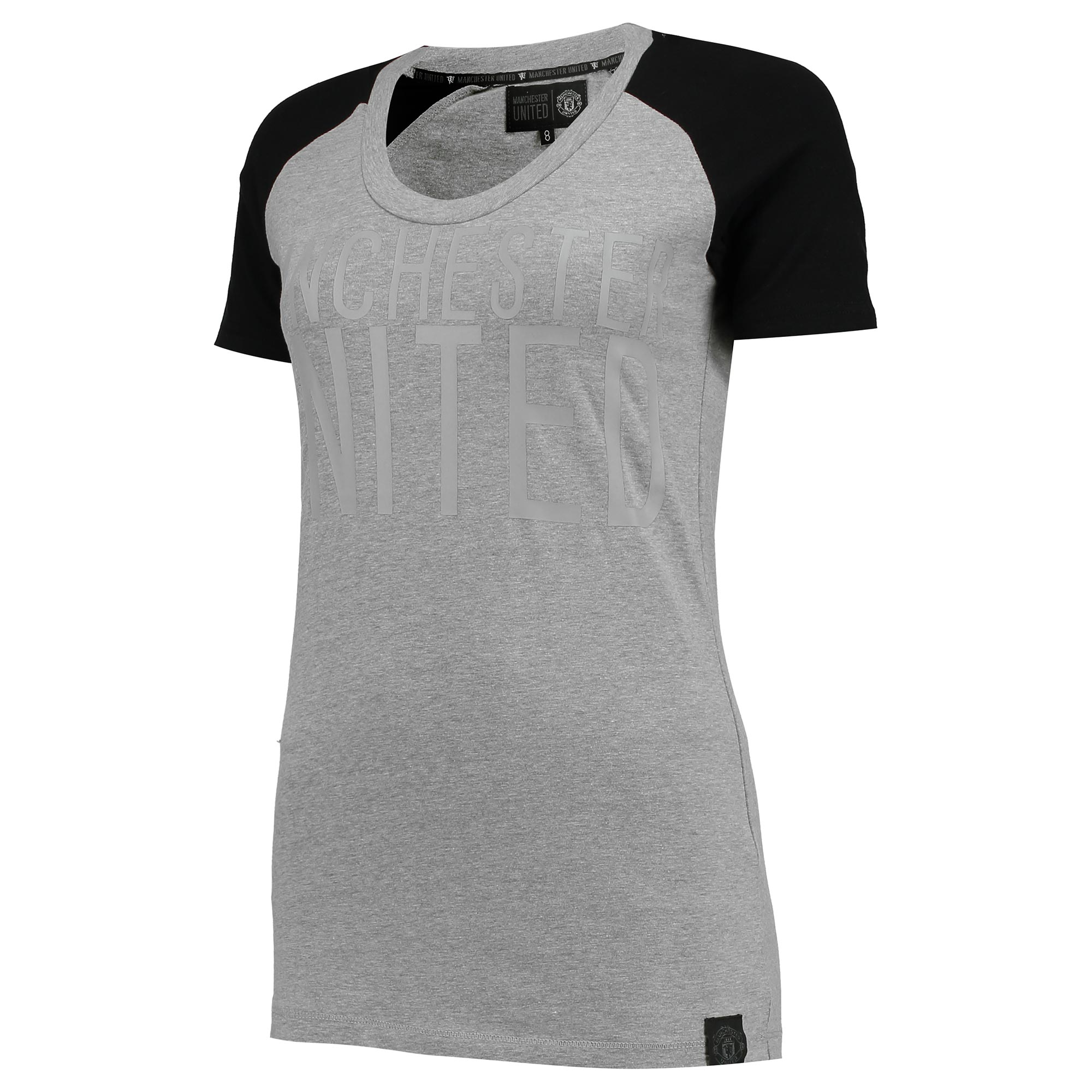 Manchester United Sportswear Crew Neck T-Shirt - Grey - Womens