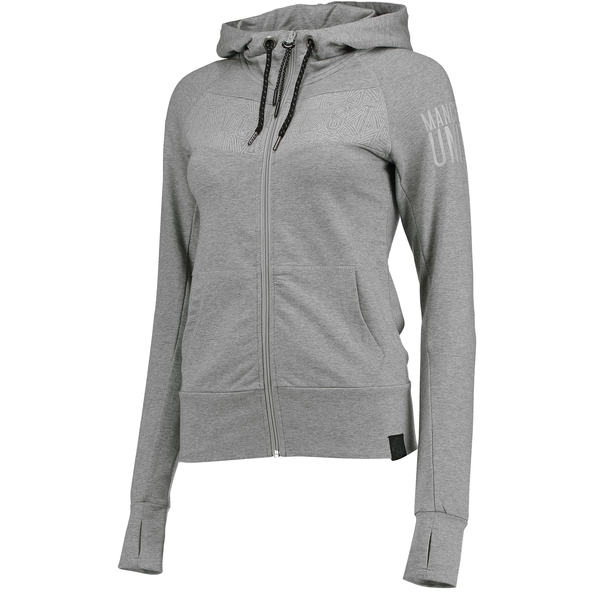 Manchester United Sportswear Full Zip Hoodie - Grey - Womens