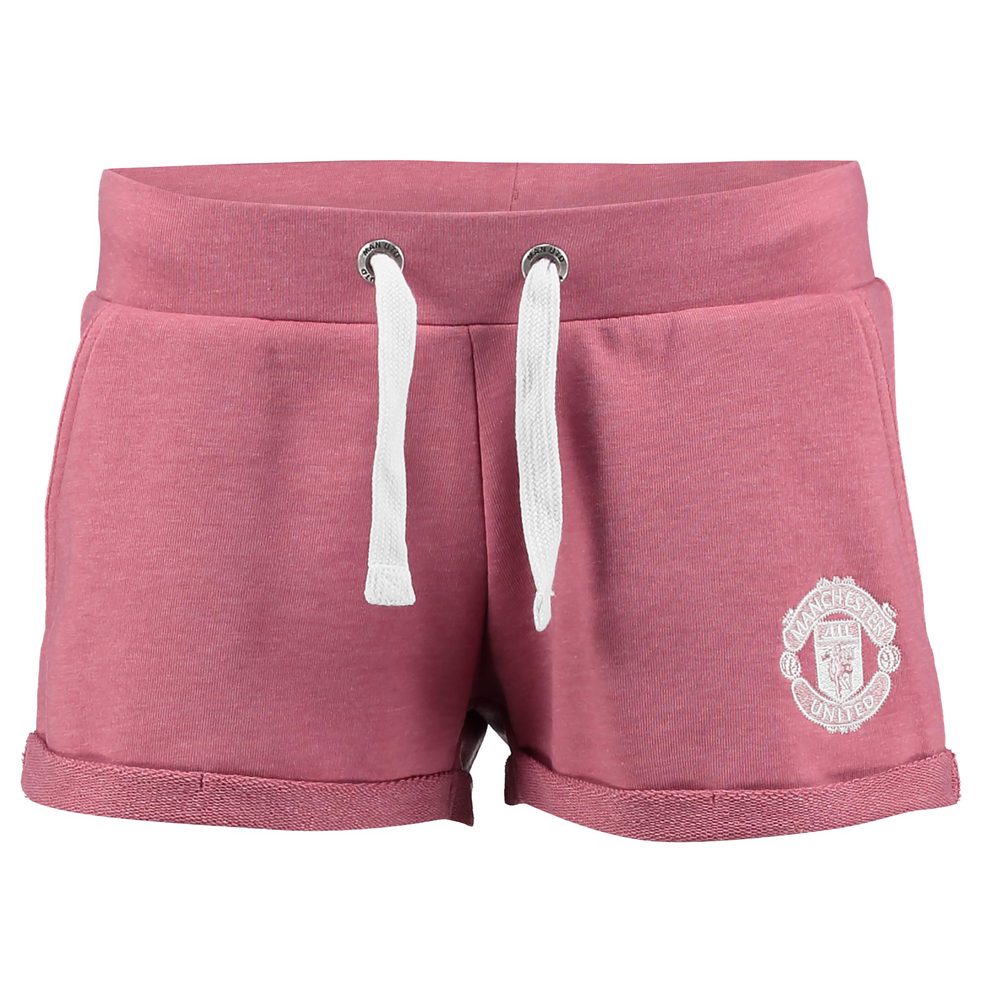 Manchester United Casual Shorts - Pink Marl - Womens