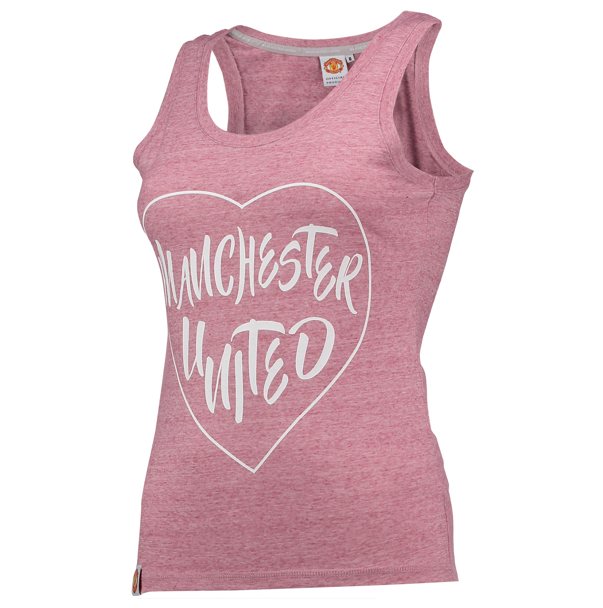 Manchester United Casual Heart Vest - Pink Marl - Womens