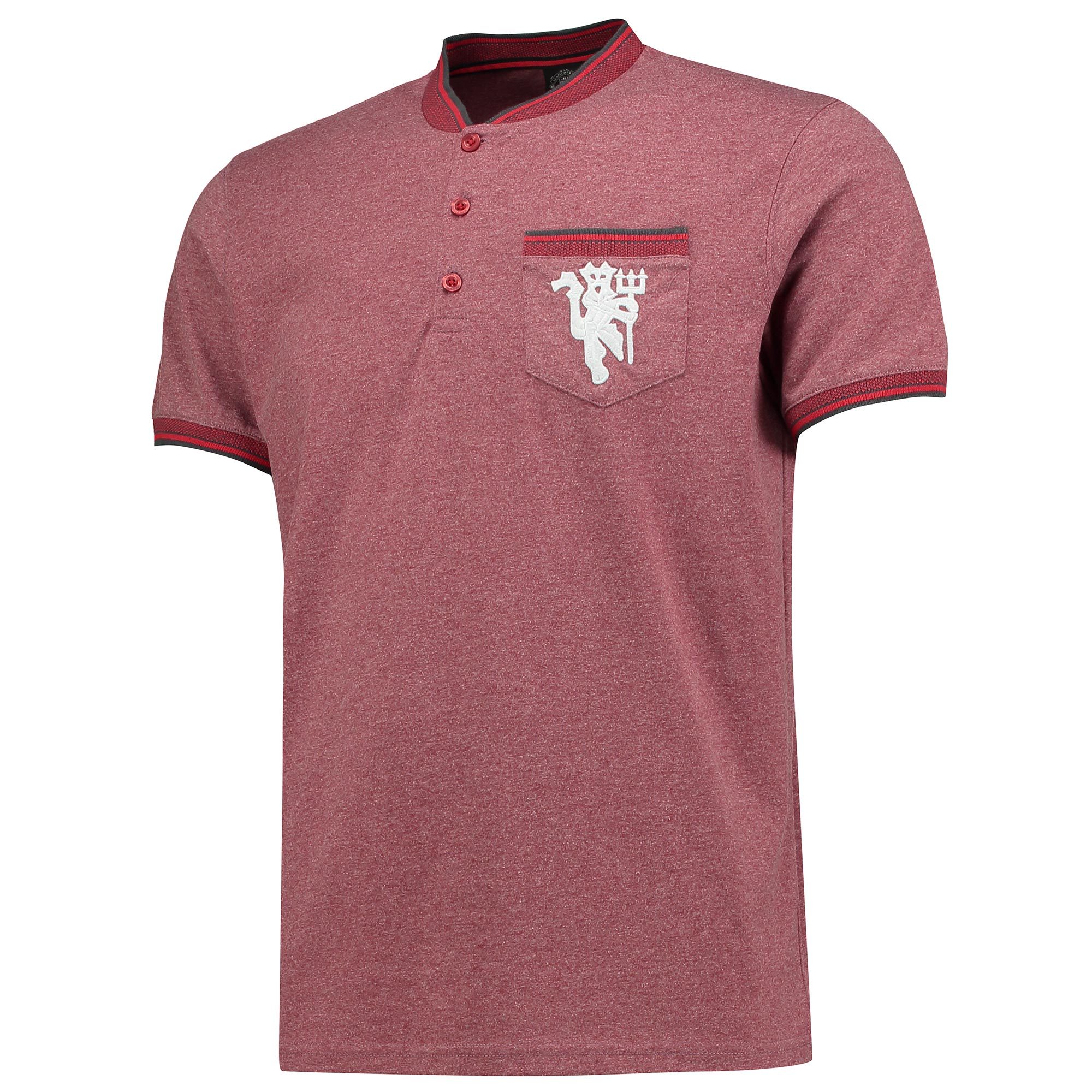 Manchester United Lifestyle Pocket T-Shirt - Burgundy - Mens