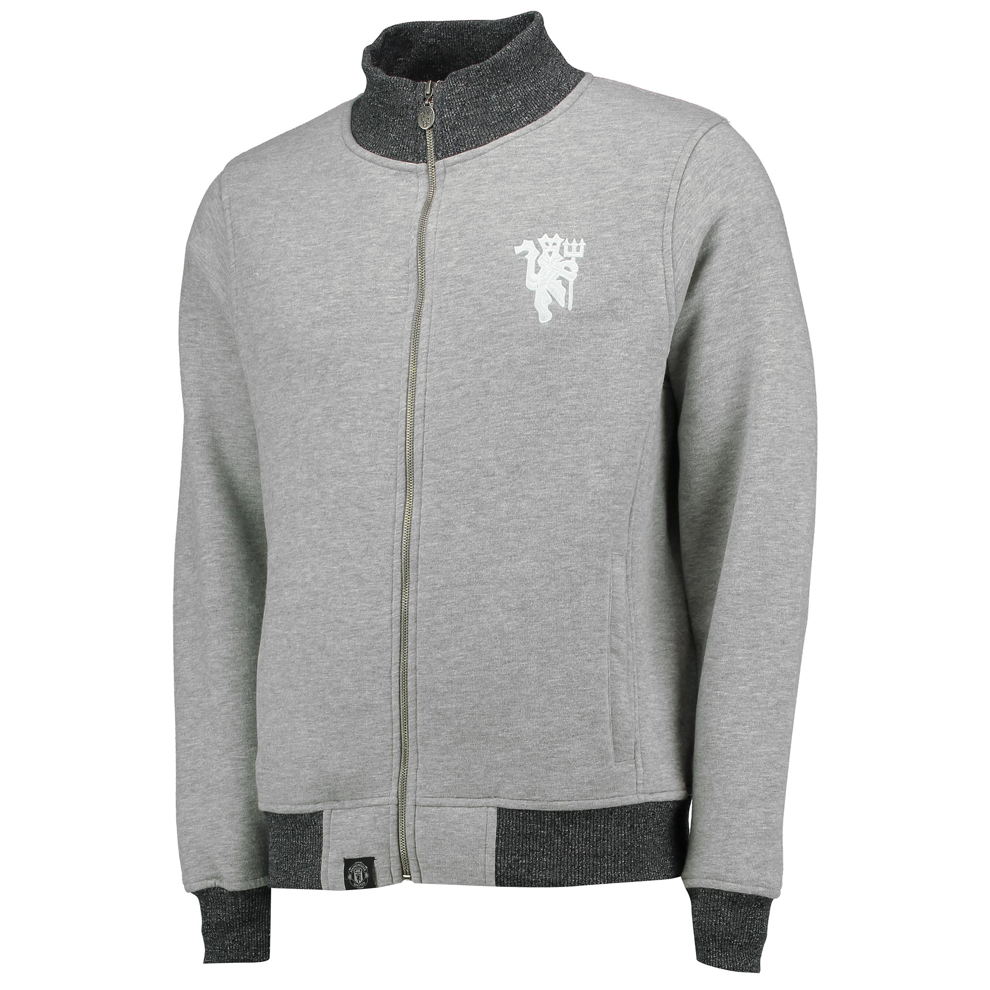 Manchester United Lifestyle Track Jacket - Grey - Mens