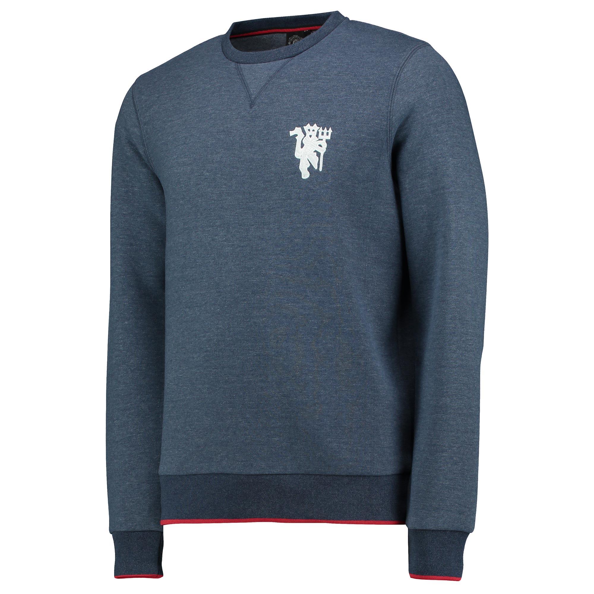 Manchester United Lifestyle Crew Neck Sweater - Denim - Mens