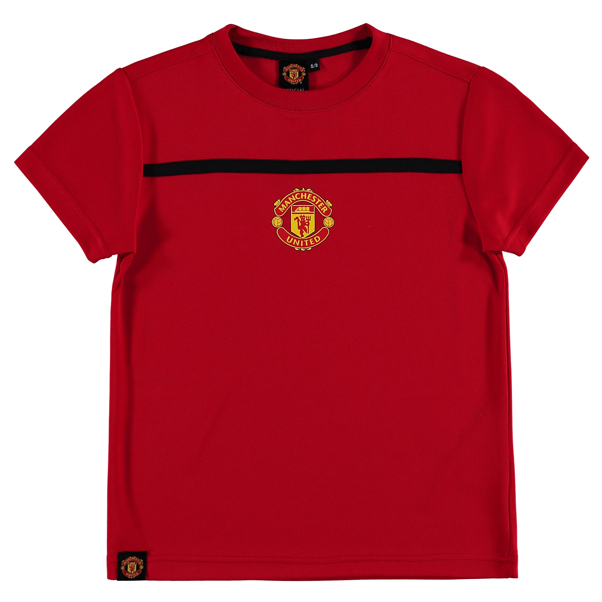 Manchester United Essential Polyester T-Shirt - Red - Kids